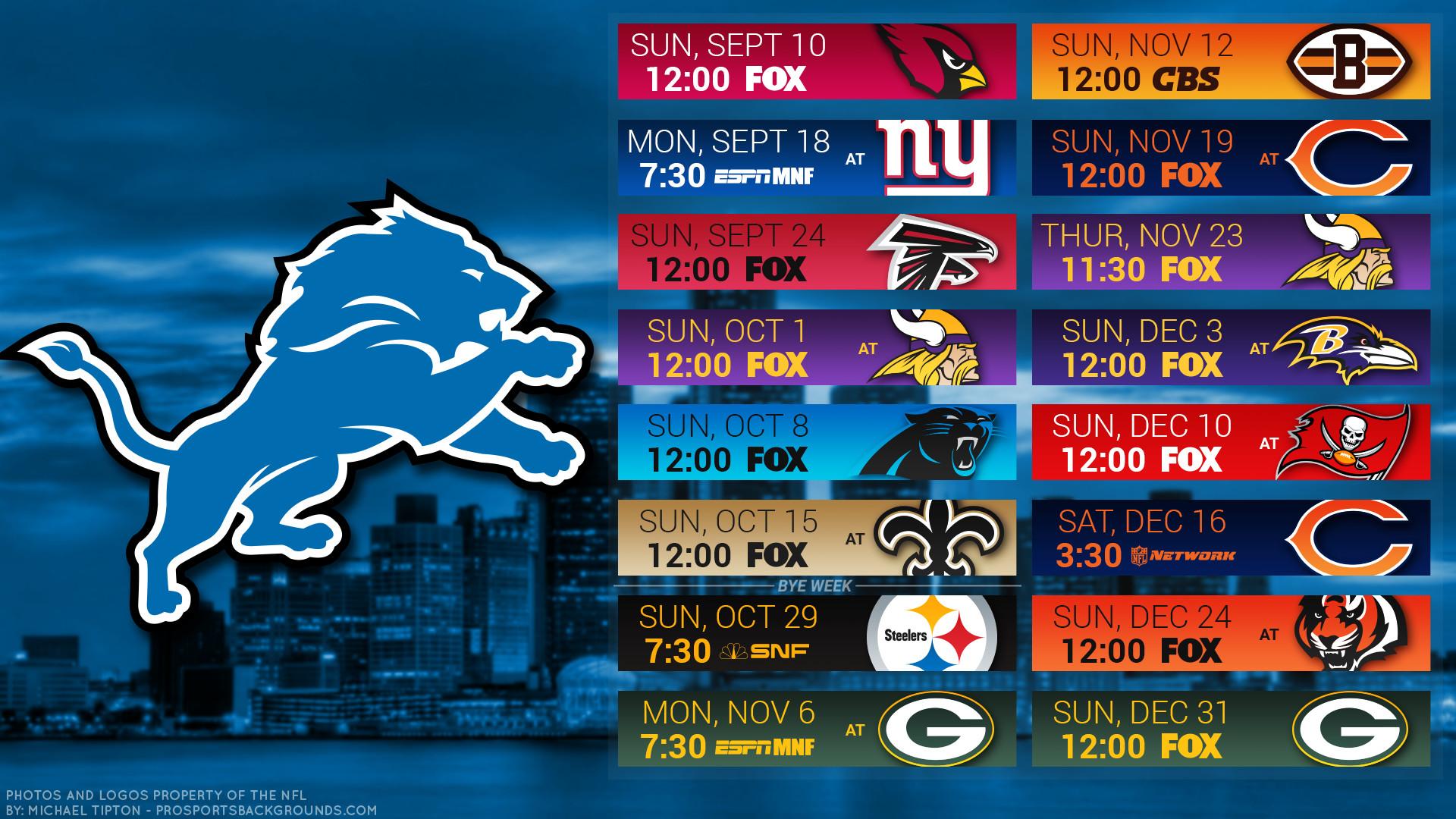 Detroit Lions 2017 schedule city football logo wallpaper free pc desktop  computer …