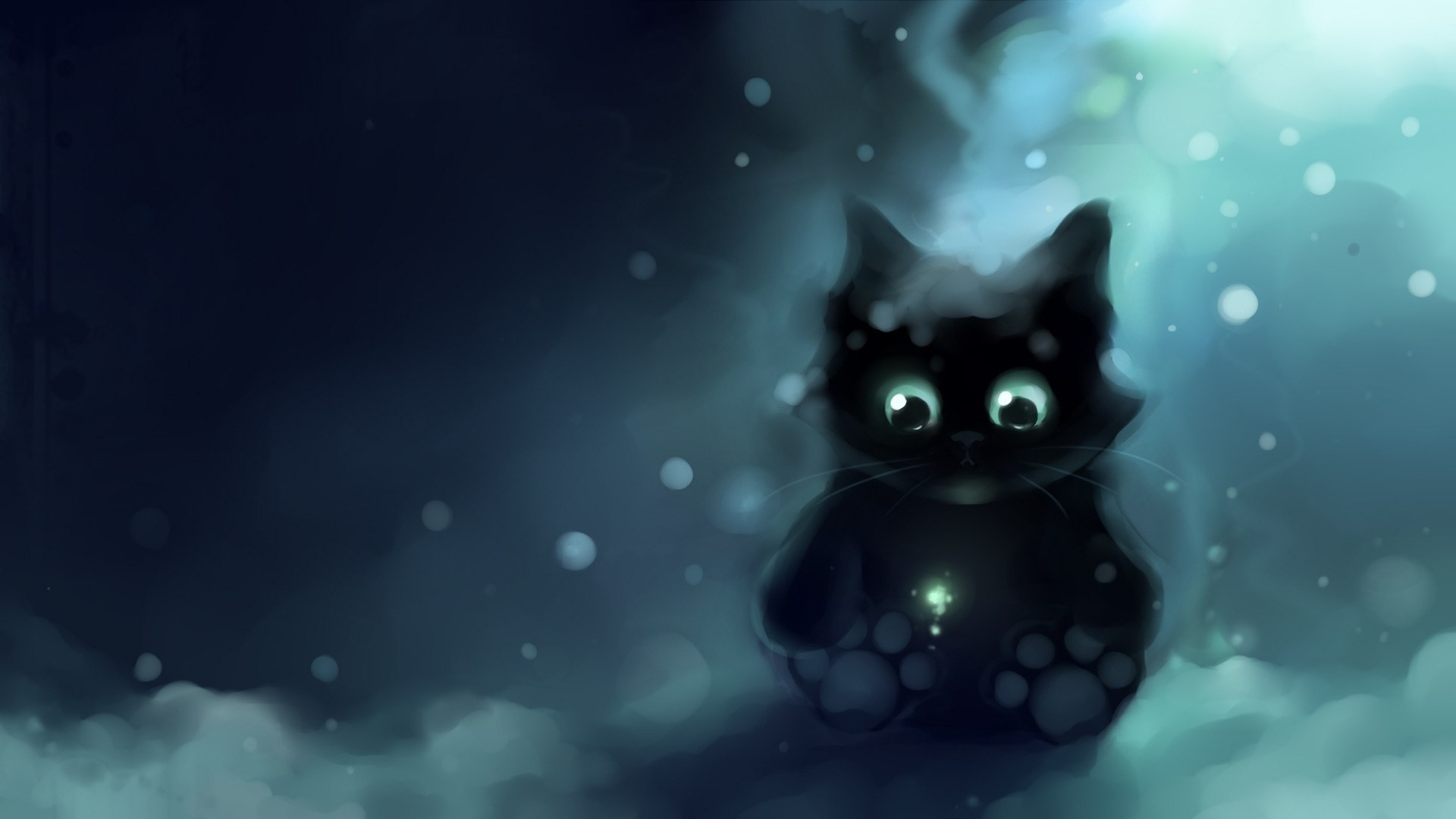 Awesome Black Cat Wallpaper