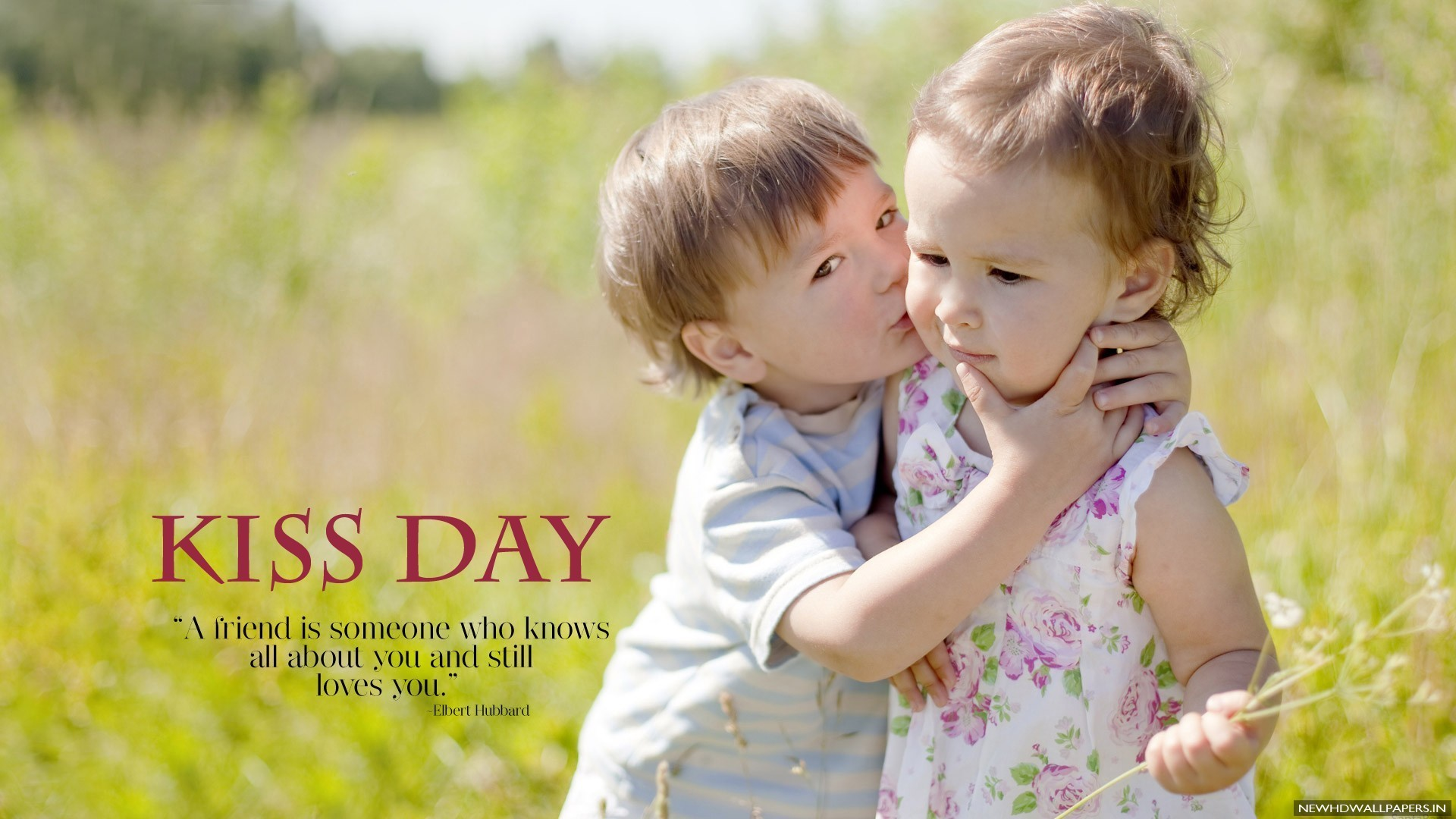 Cute Boy Kissing Baby Girl Photo 2016 · Download Free Wide HD .