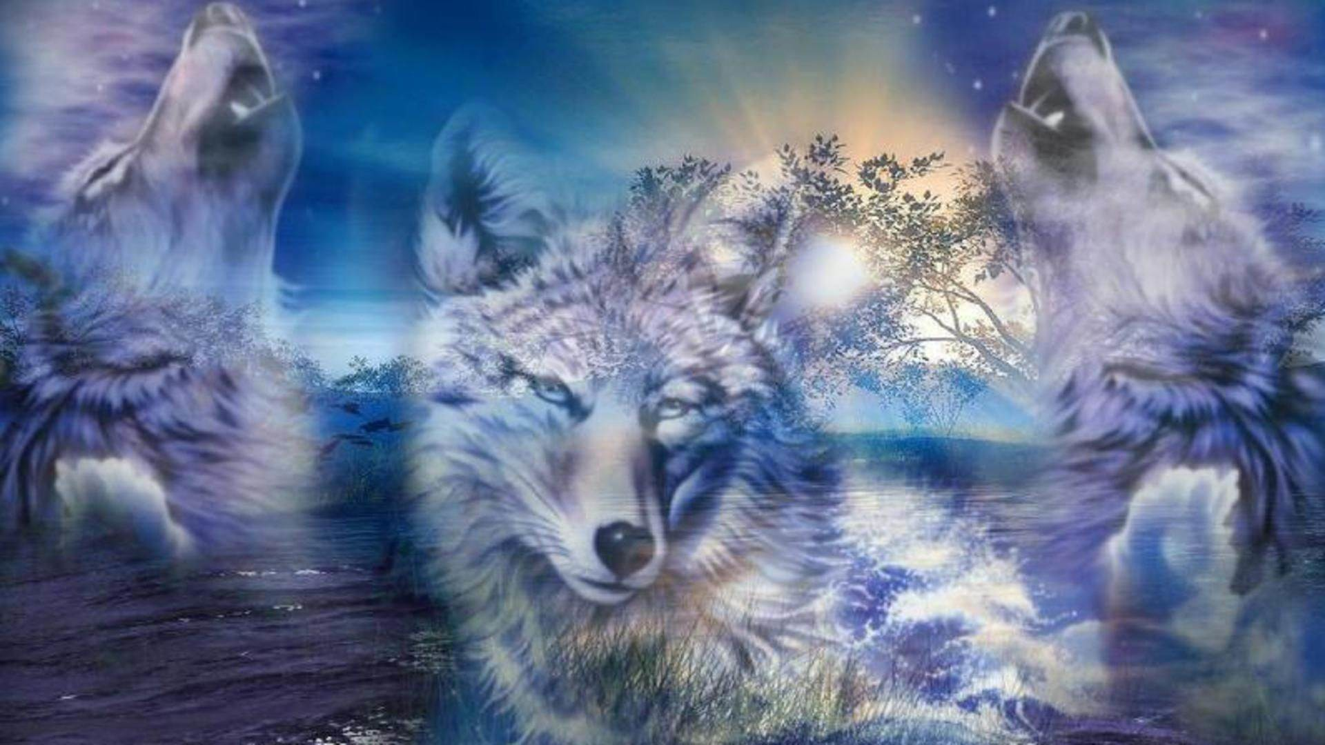 Mind Blowing Cartoon Wolves Wallpaper te.org 1920×1080 Animated Wolf  Wallpapers | Adorable