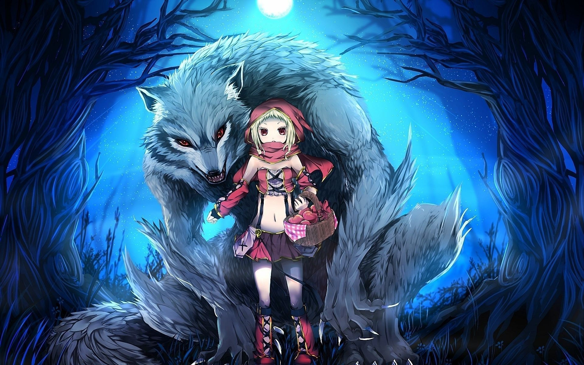 Little-Red-Riding-Hood-And-The-Wolf-ANimated-