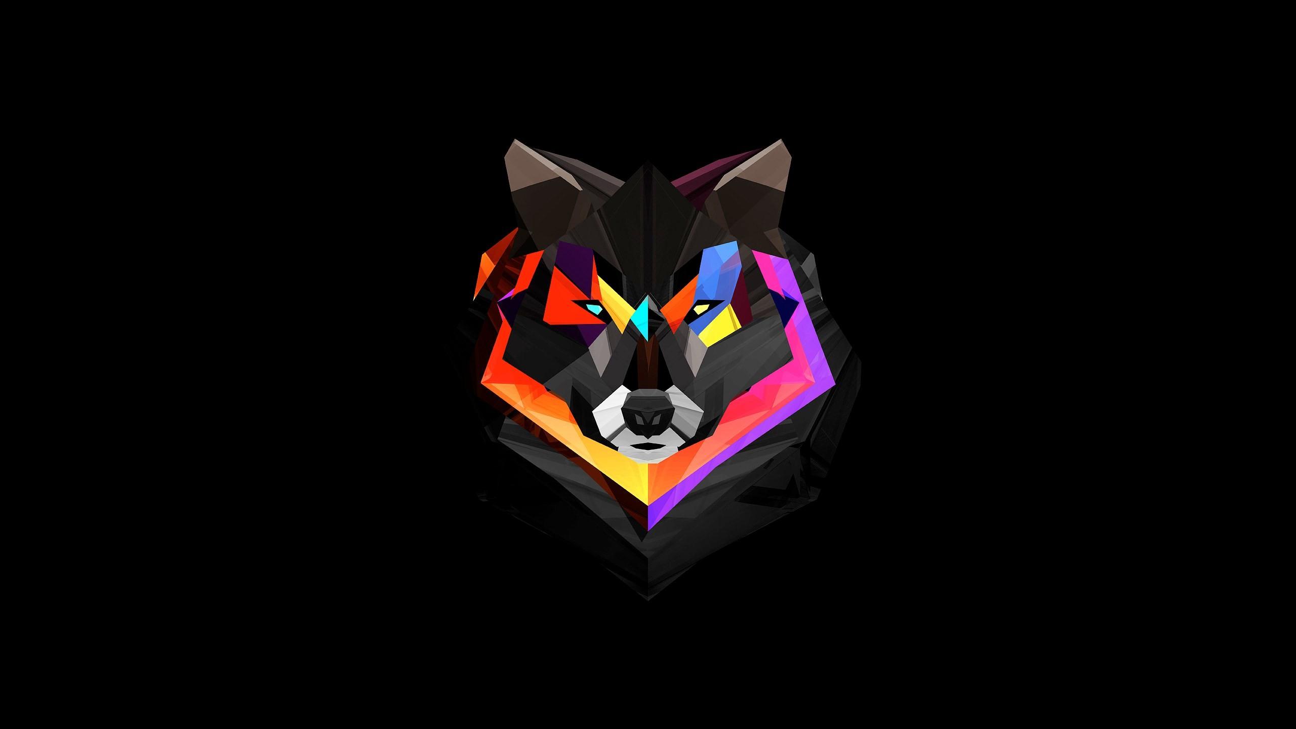 geometric wolf wallpapers