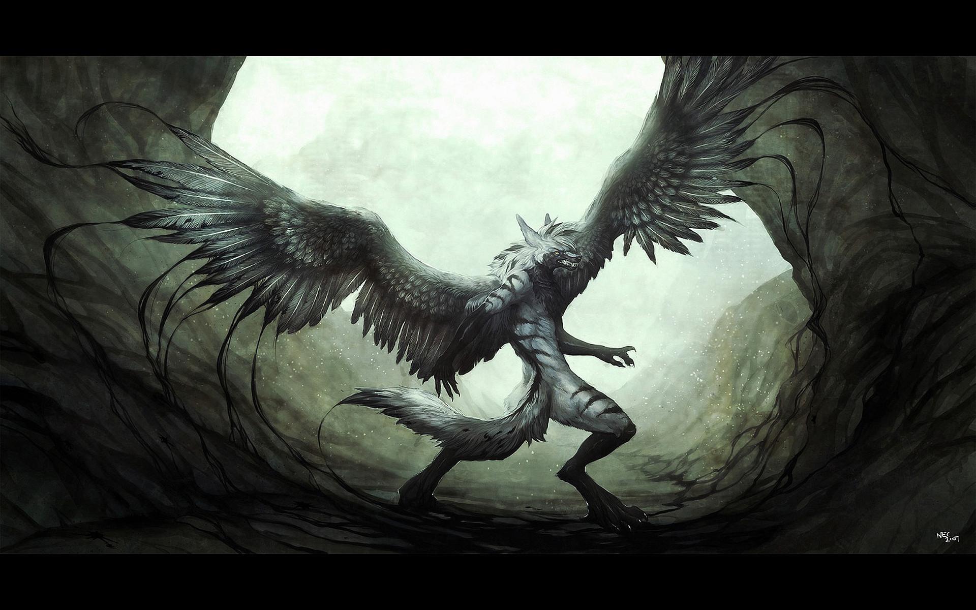 Black Anime Wolf 3 Hd Wallpaper