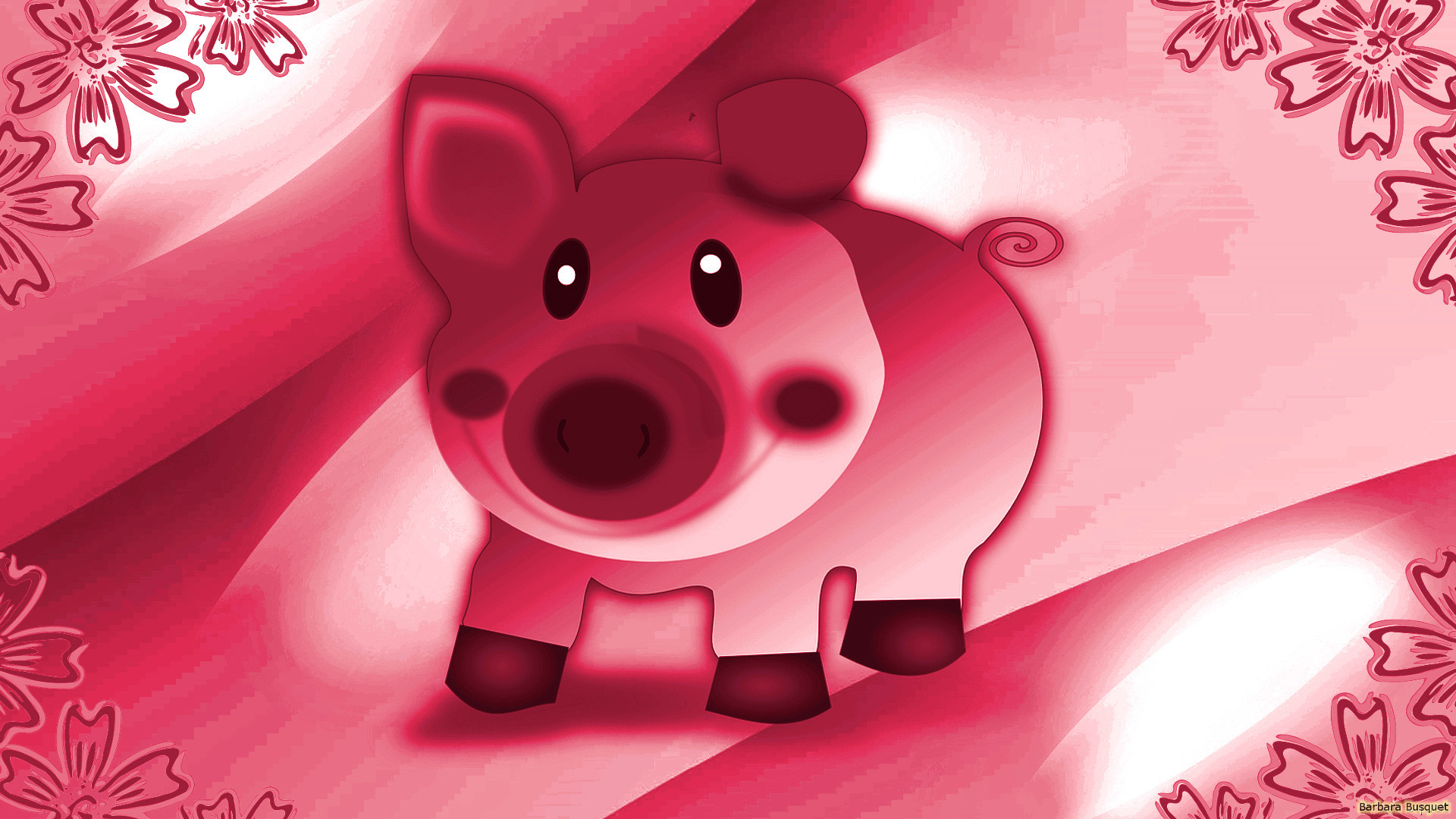 pink-wallpaper-with-pig