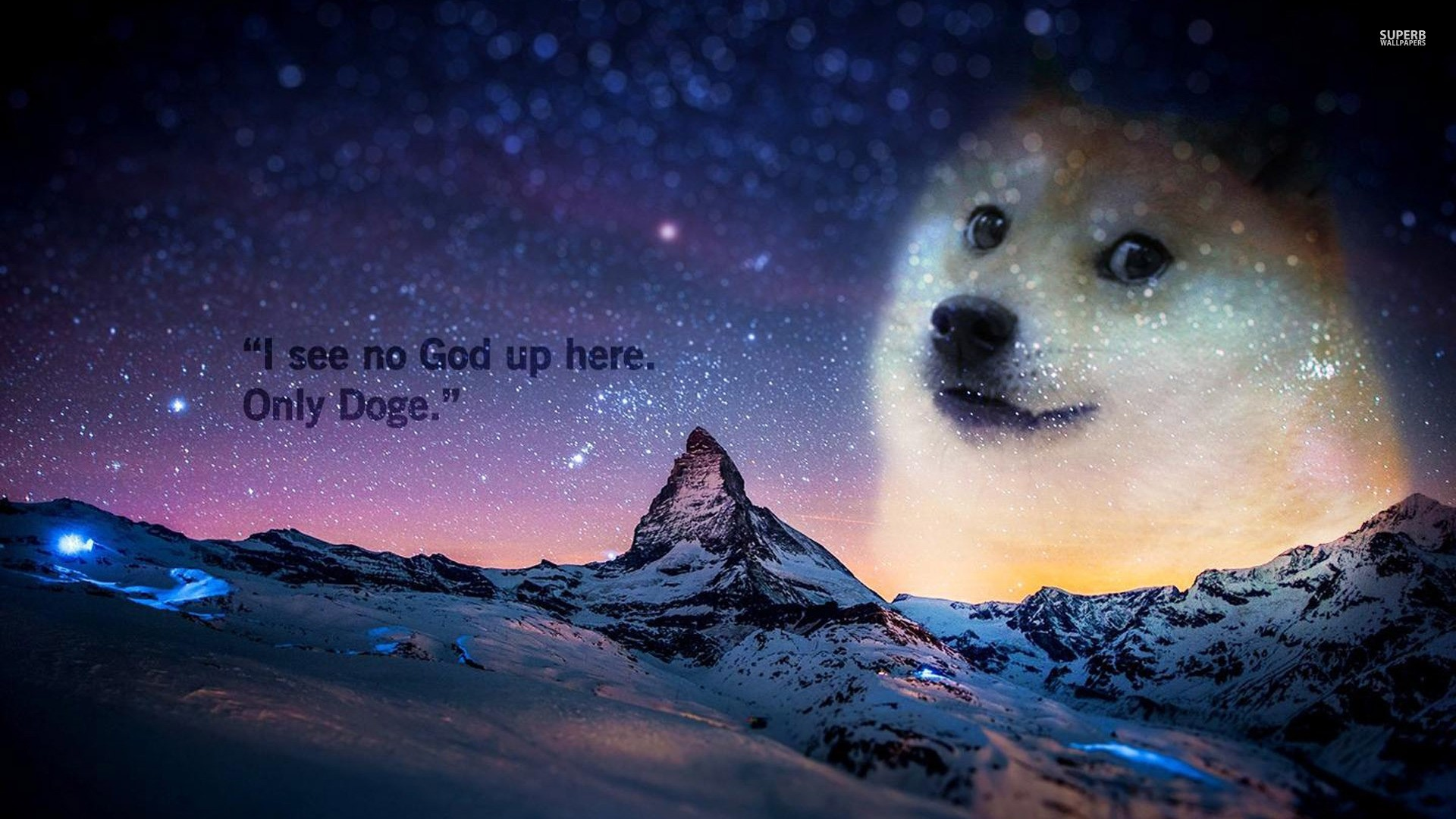 doge in sky,