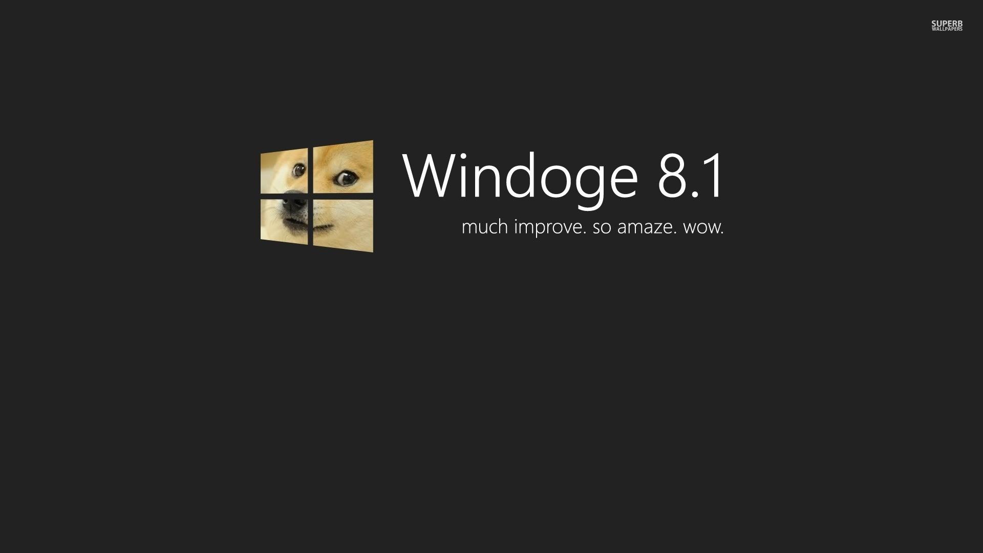 Doge Windows 8.1 Wallpaper – MixHD wallpapers