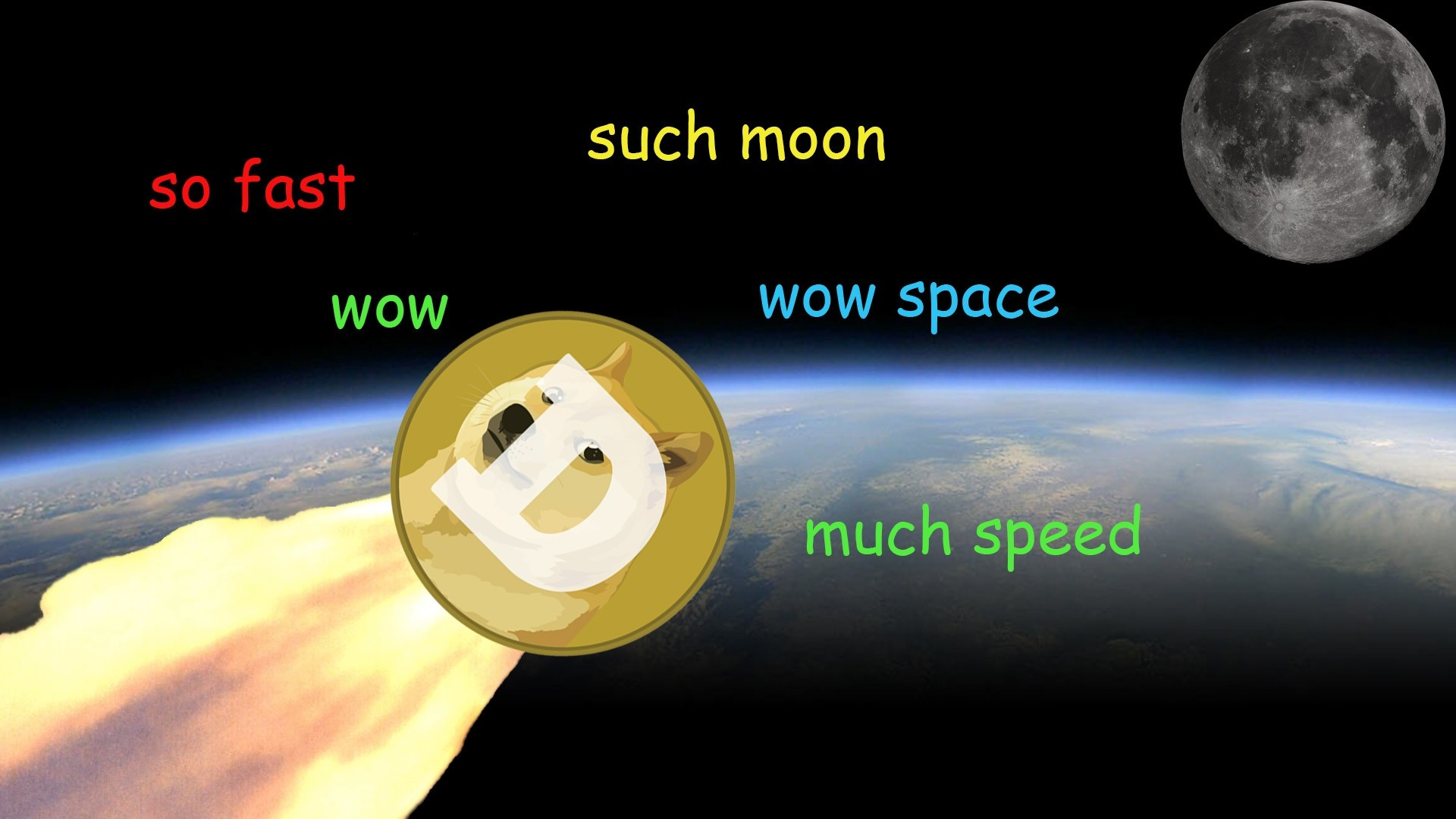 Doge Wallpaper, Doge wallpaper to the moon.