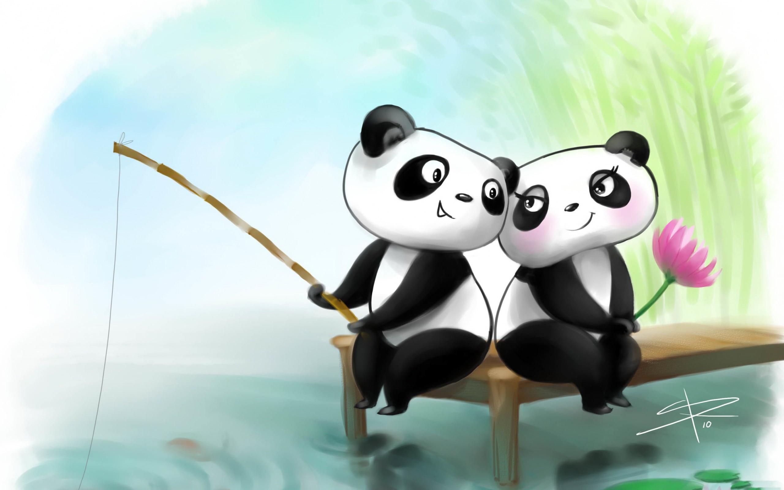 Animated Fishing Pandas Coup