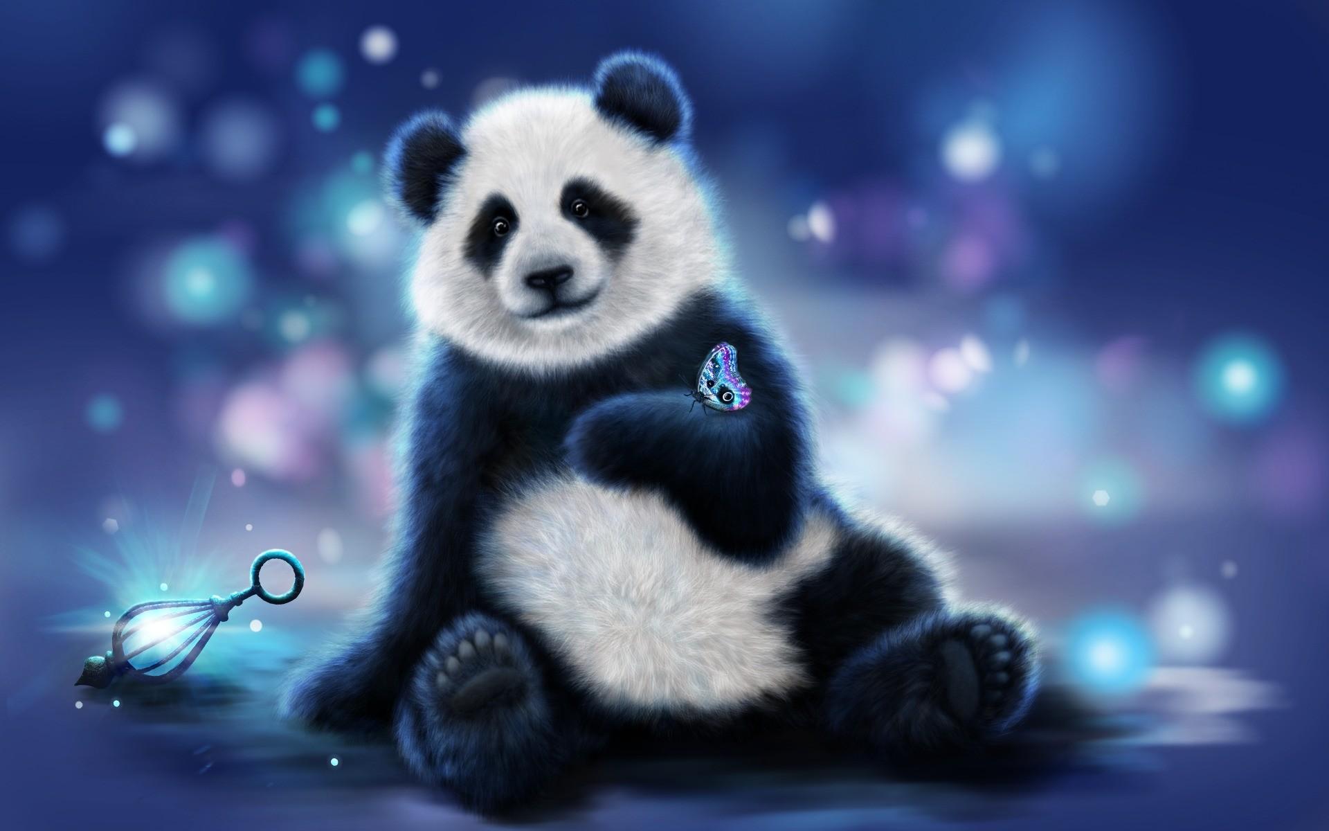 #694800758 Cute Panda Wallpaper for PC, Mobile
