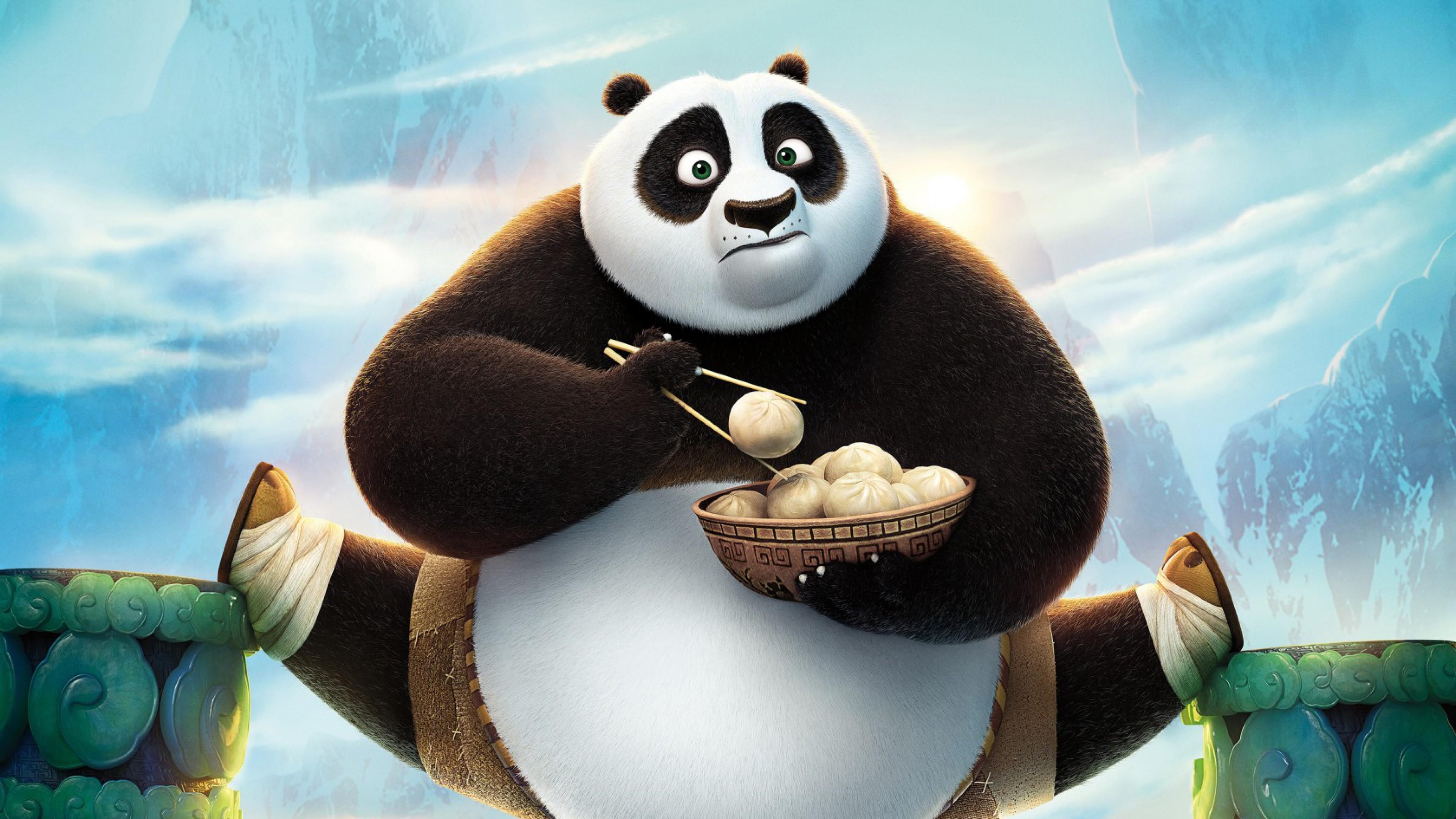 Preview wallpaper kung fu panda, kung fu panda 3, panda 3840×2160
