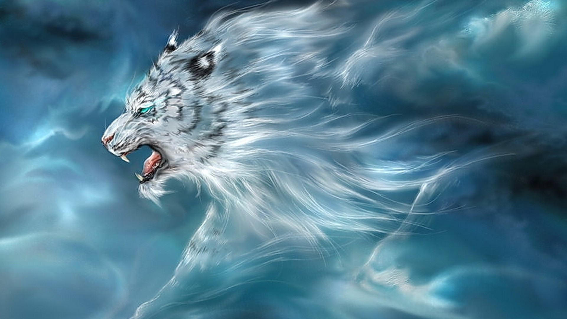 … Background Full HD 1080p. Wallpaper tiger, sky, being, flight