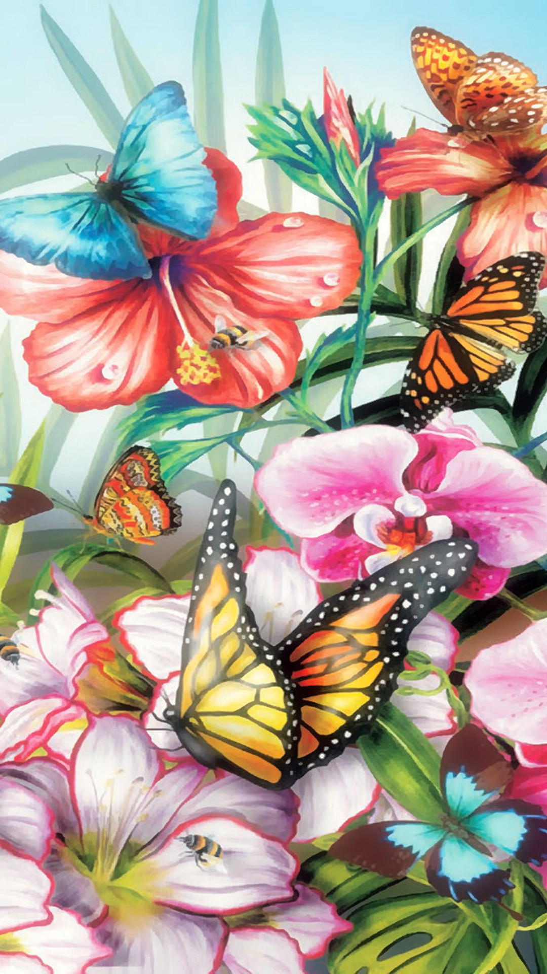 Color Butterflies iphone 6 plus Wallpaper, iPhone 6 Plus Wallpaper