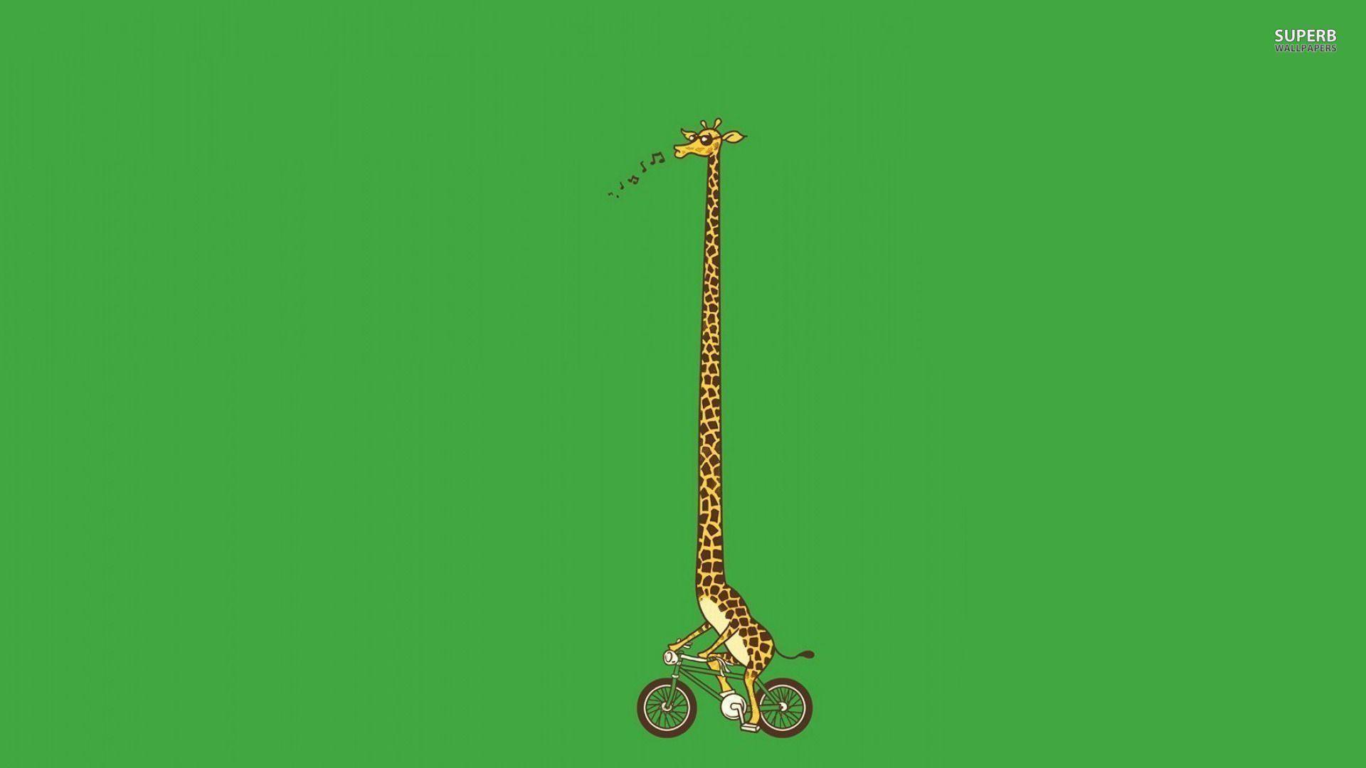 Biking giraffe wallpaper – Funny wallpapers – #