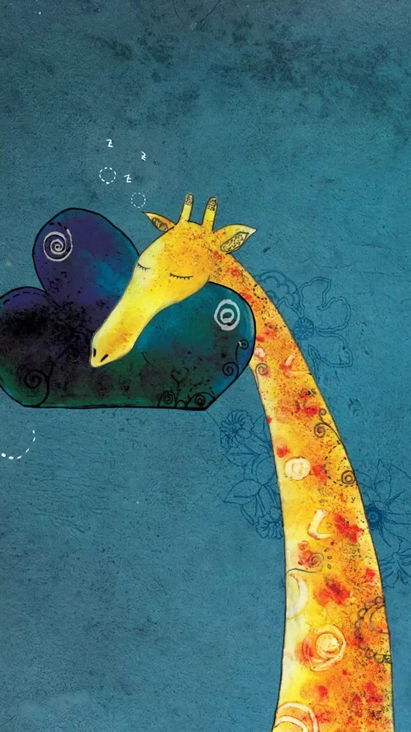 Customize your Galaxy with this high definition Giraffe Pillow wallpaper  from HD Phone Wallpapers!