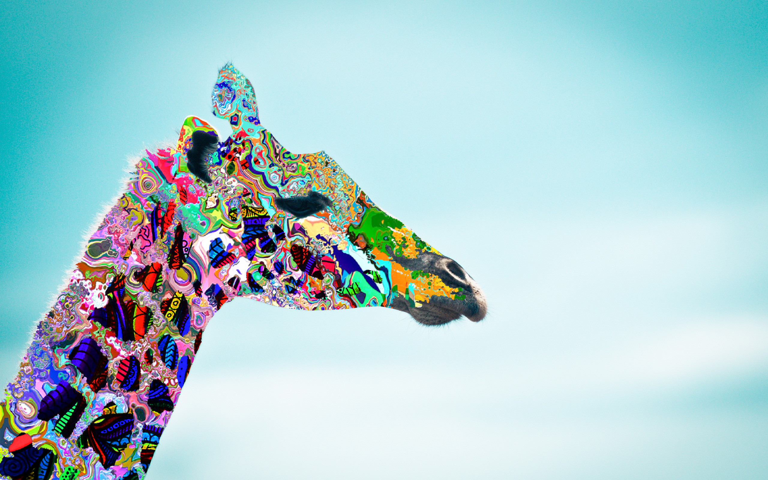 Psychedelic Giraffe Wallpaper