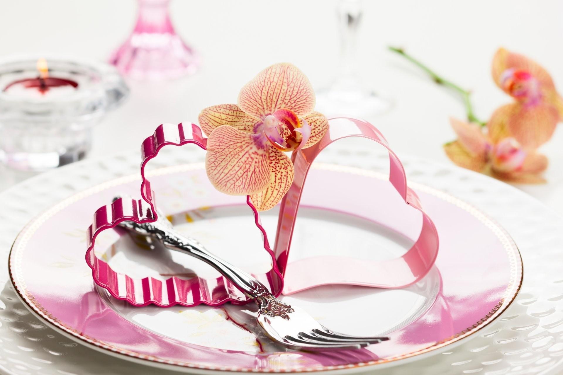 valentine's day heart orchid flowers romance heart flower