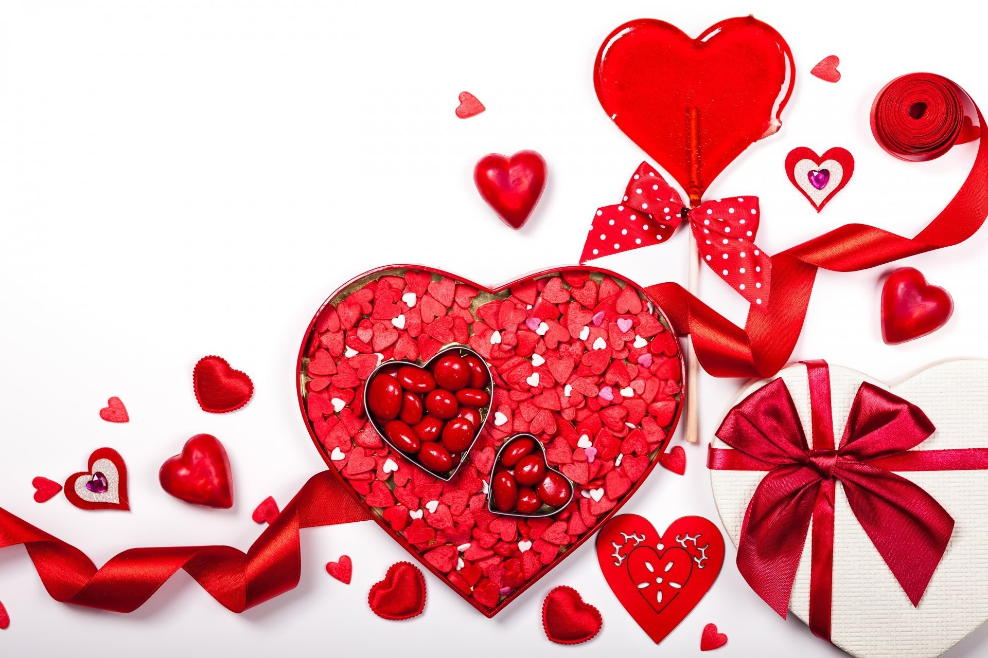 valentine's day romantic heart love rose heart bow romance