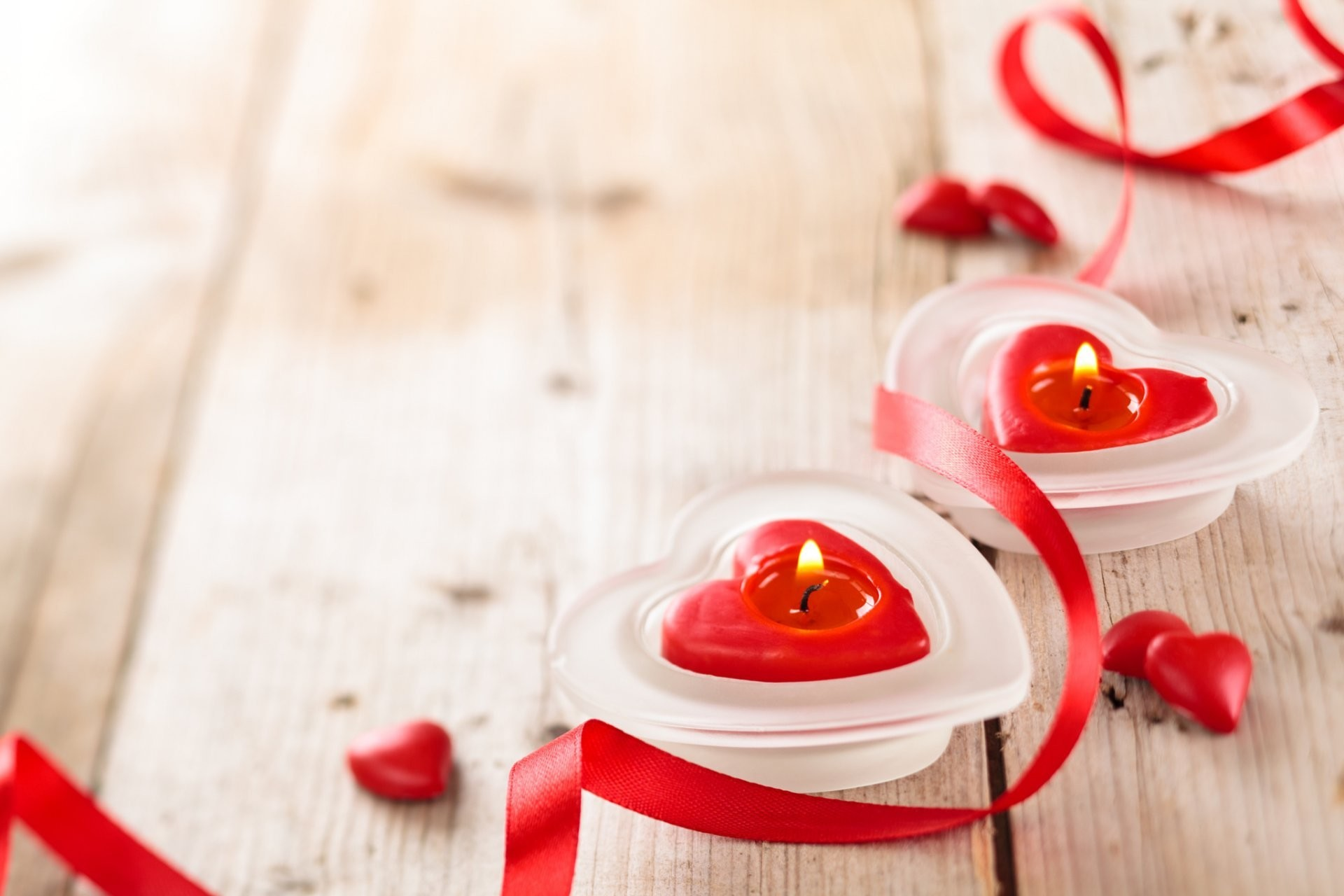 valentine's day candles heart