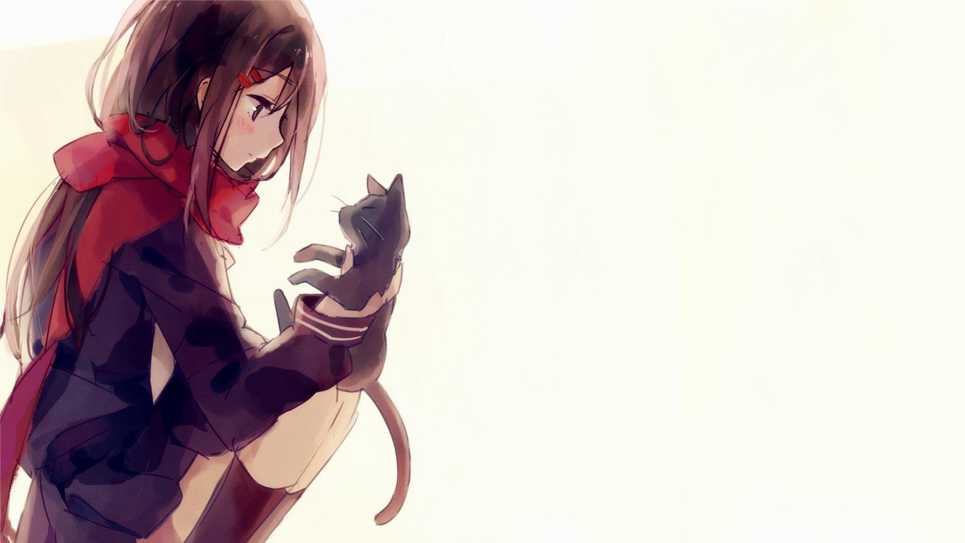 wallpaper.wiki-Download-Free-Anime-Cat-Background-PIC-