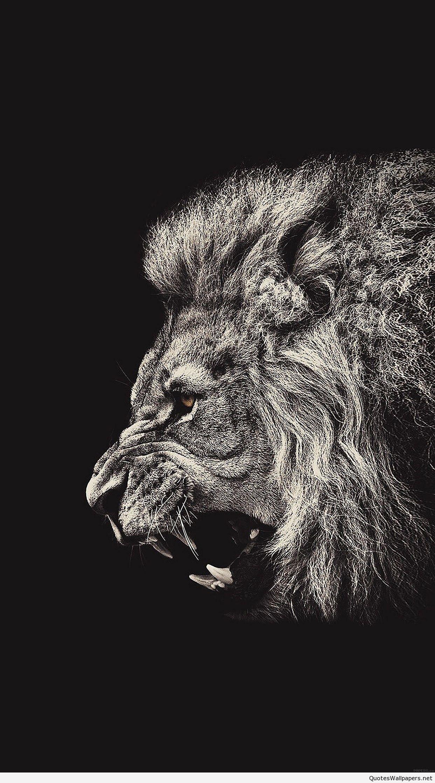 shouting lion illust art iphone 6 plus wallpapers – animal friend iphone 6  plus wallpapers-