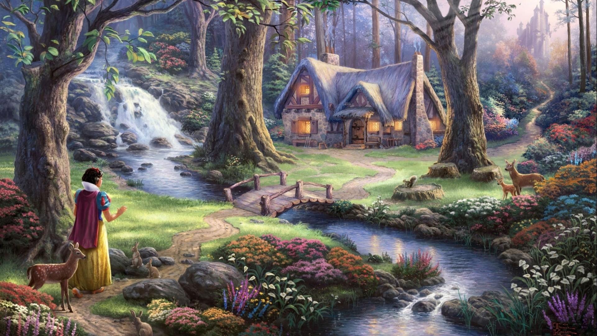 Snow White Forest Animal Natur