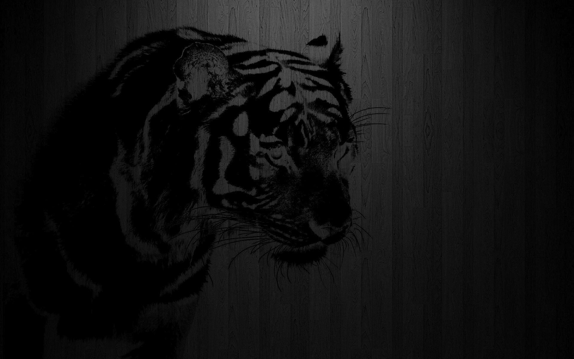 … Black tiger print on wood