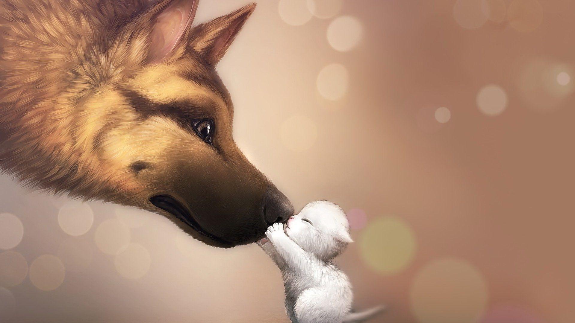 <b>Wolf Puppy</b> – Dogs & Animals Background <b