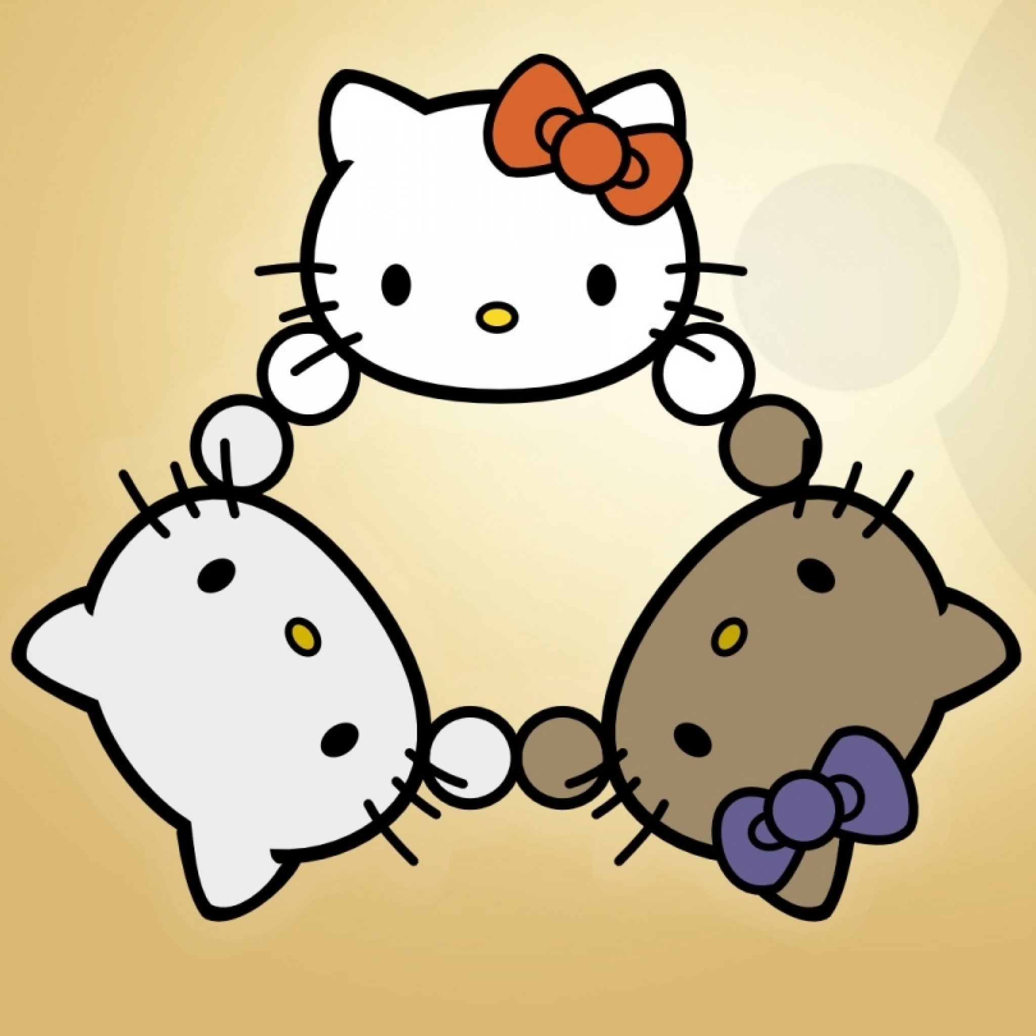 Hello Kitty Play – Tap to see more cute hello kitty wallpapers! – @mobile9