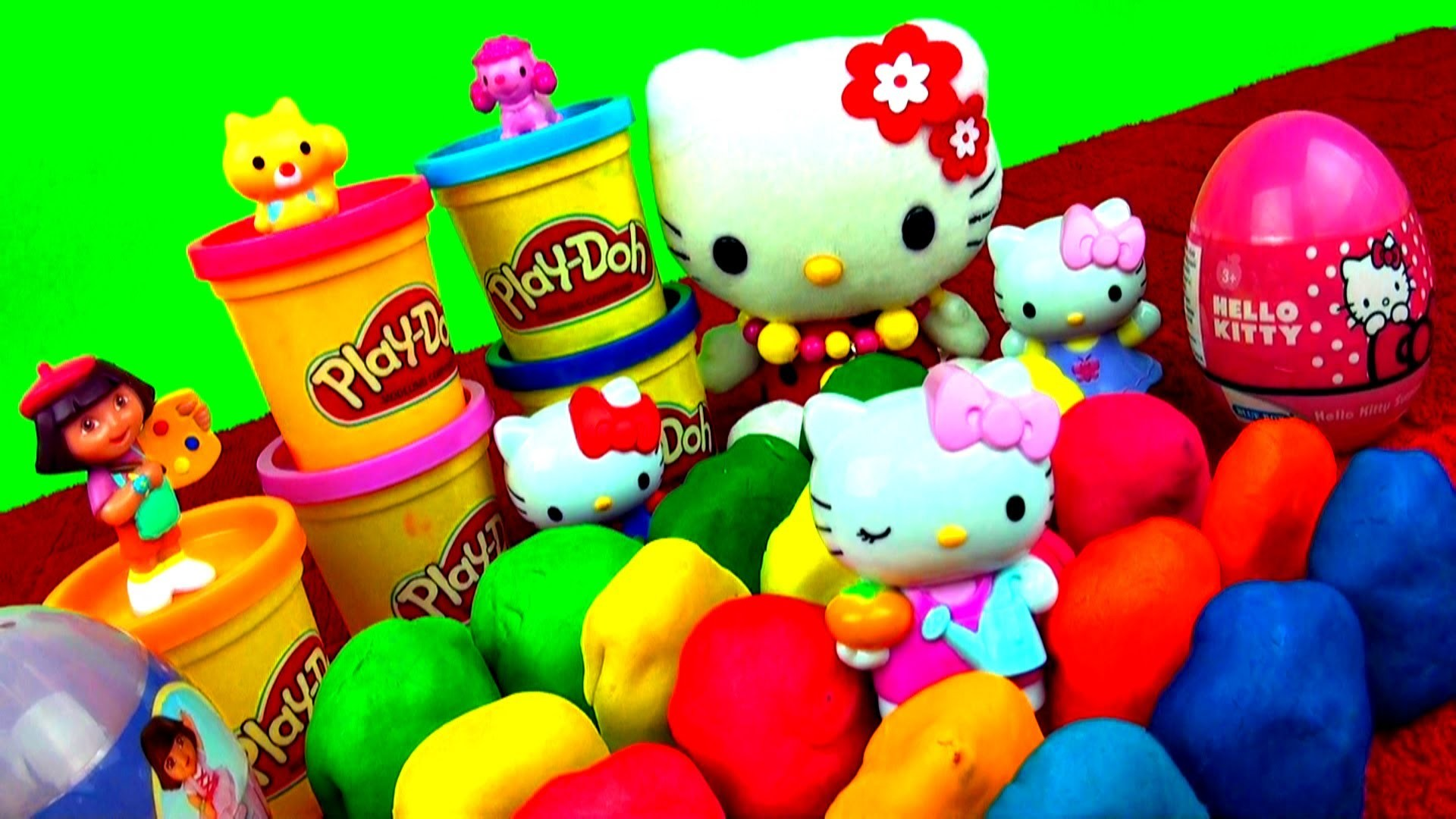 20 Surprise Play Doh Eggs Hello Kitty Spiderman LPS My Little Pony Angry  Birds Peppa Pig Dora Cars – YouTube