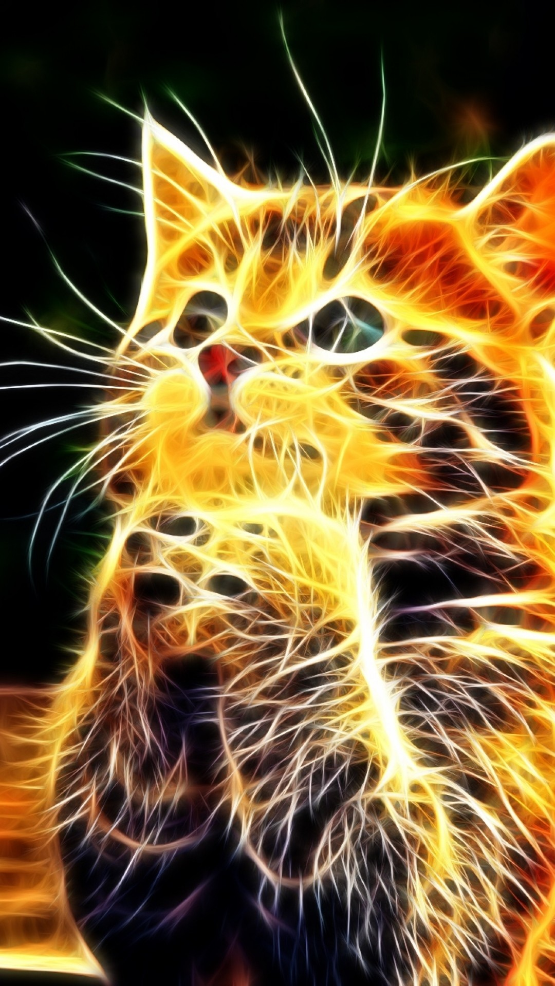Wallpaper kitty, furry, paws, cute, abstract