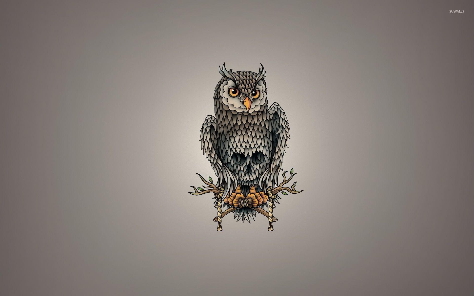 Skull owl wallpaper jpg