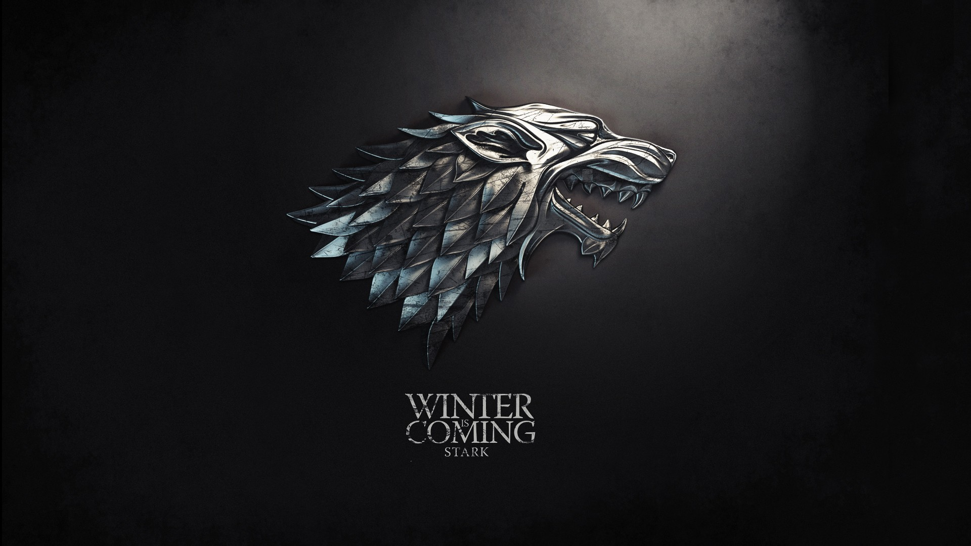 Game of Thrones wallpaper A song of Ice and Fire House of Stark wolf symbol  logo