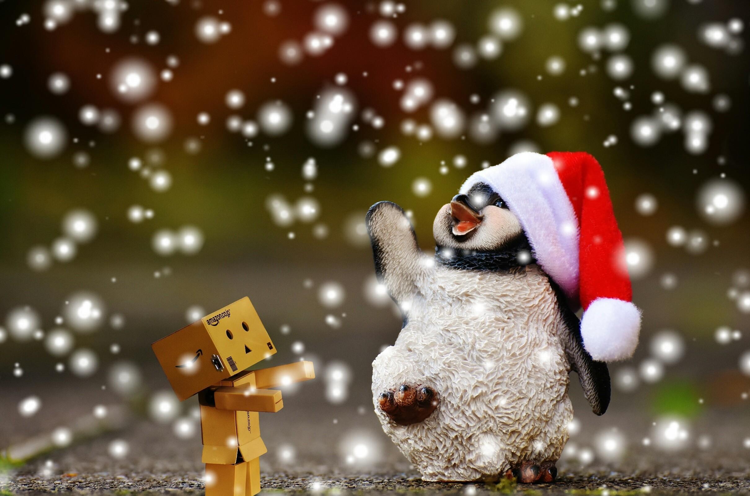 tree snow winter animal cute decoration ceramic weather holiday christmas  christmas tree penguin christmas decoration santa