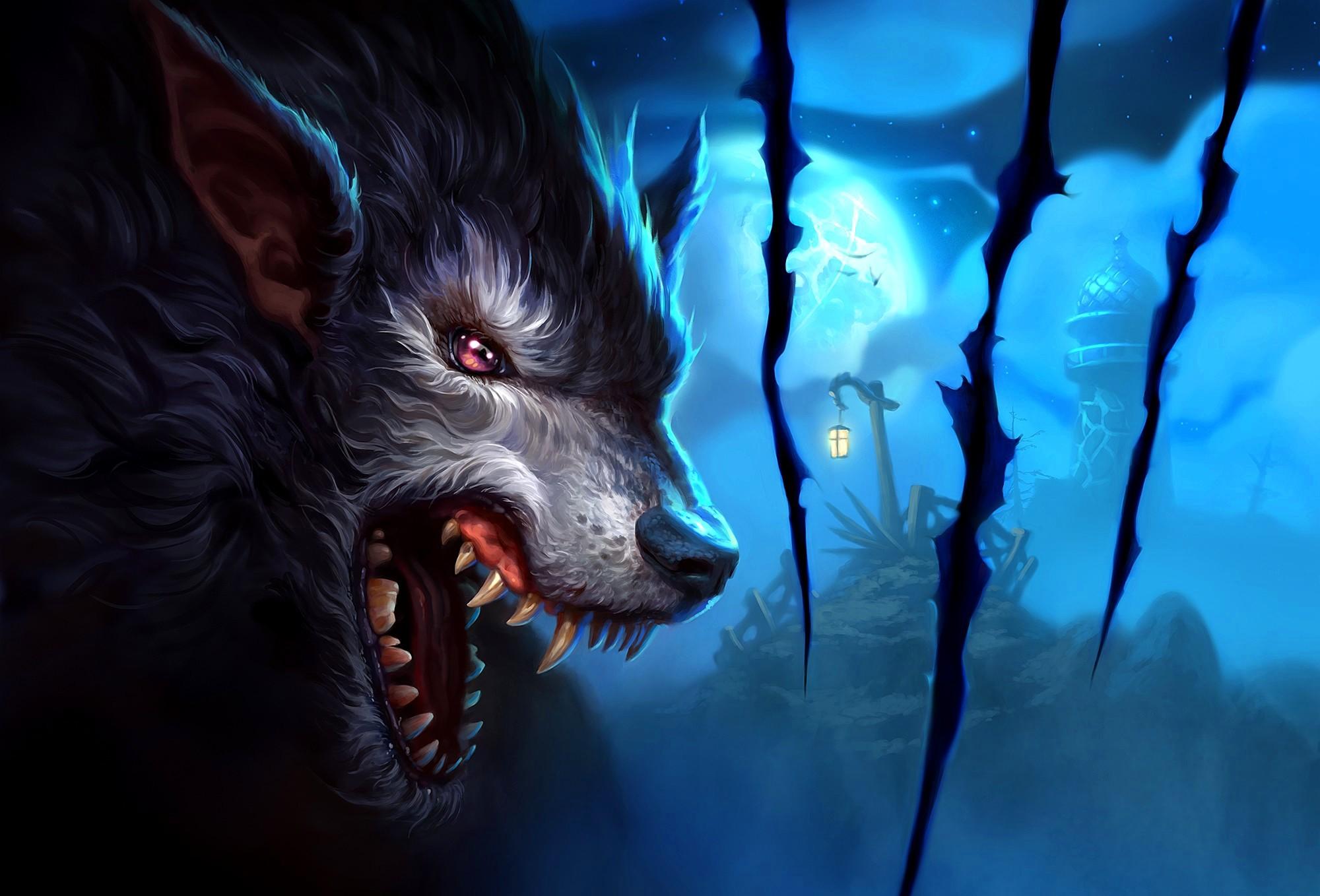 Wild Wolf Moon – HD animal animation wallpapers – Wild Wolf Moon