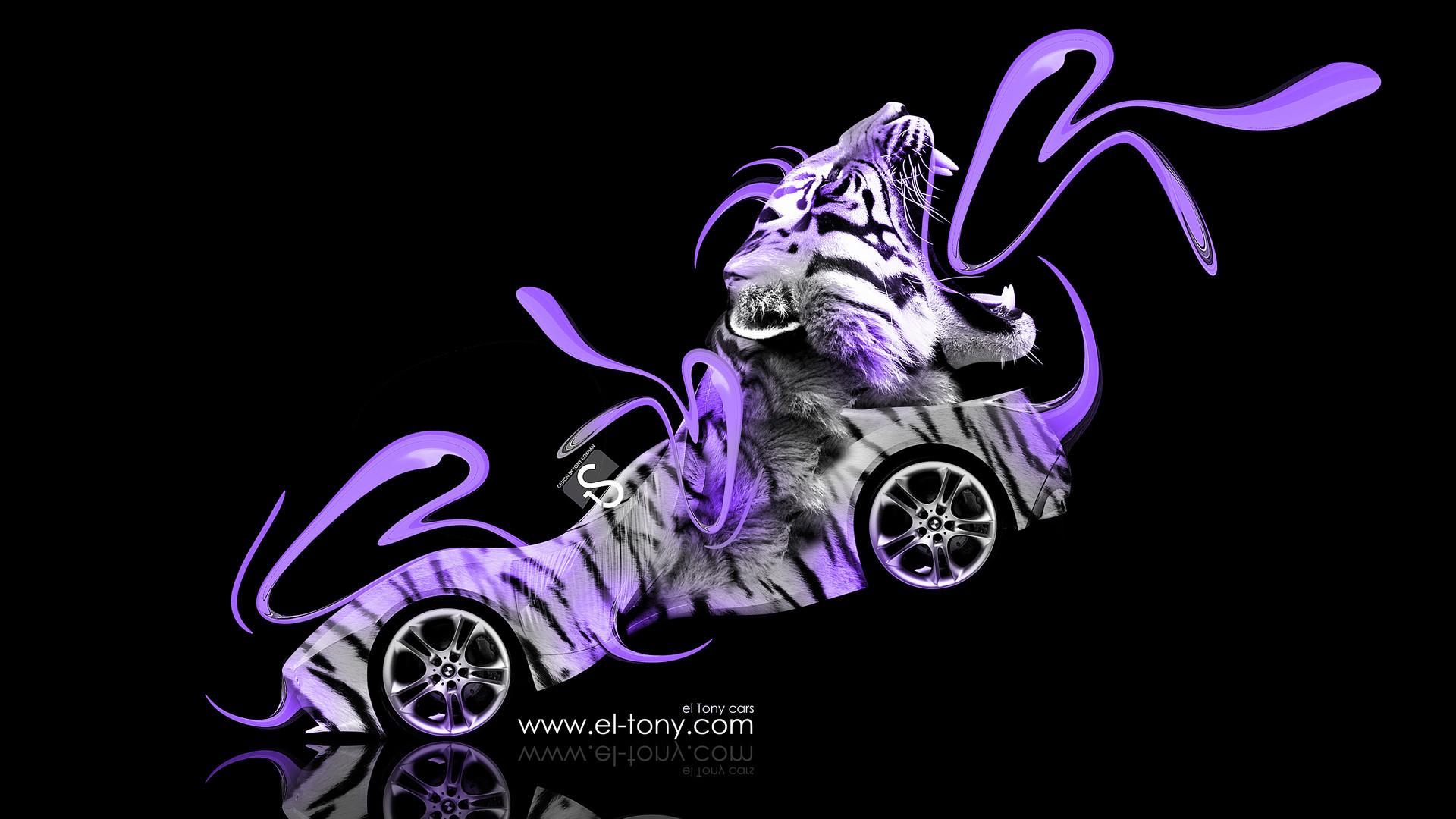-Tiger-Car-2014-Violet-Neon-design-by-Tony-Kokhan-[www.el-tony.com