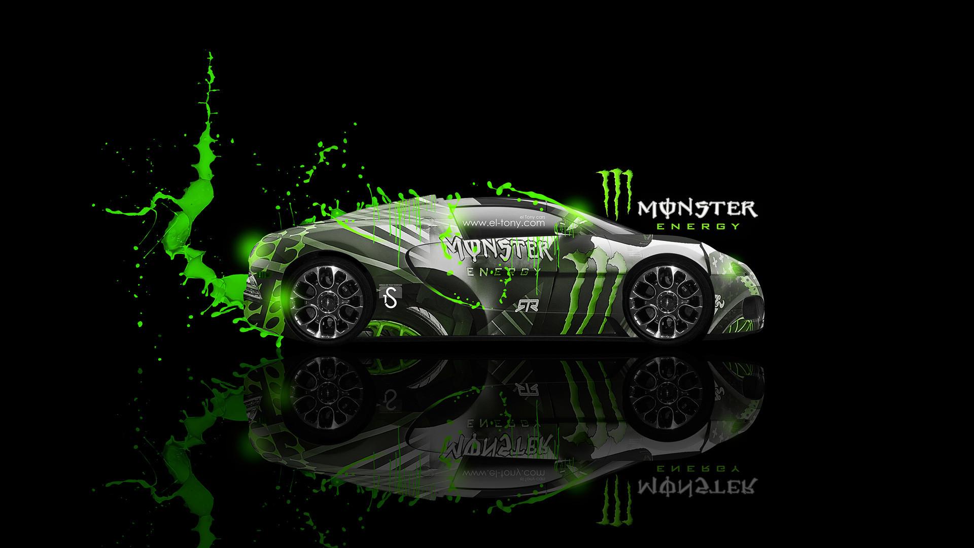 Bugatti Veyron Green Neon Tiger Fantasy Plastic Car 2013 Hd Wallpapers