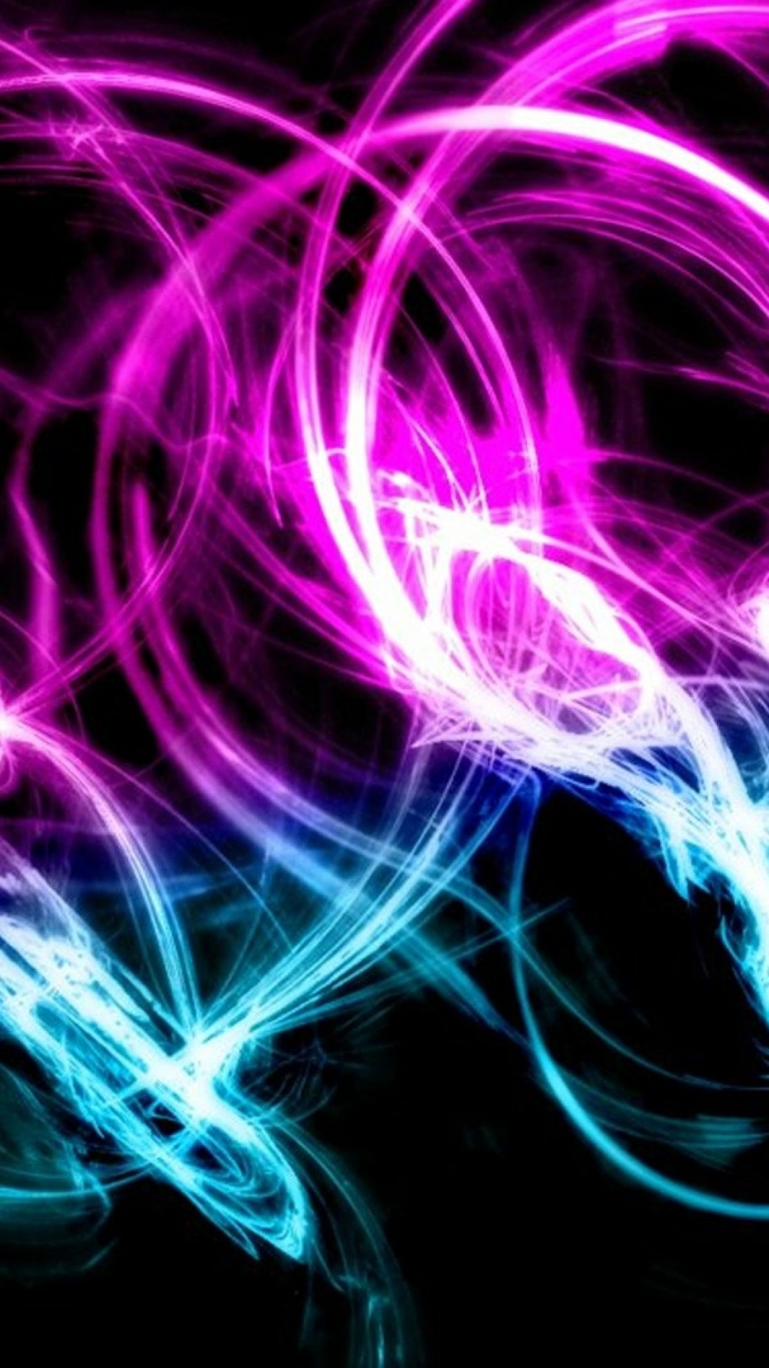 Preview wallpaper neon, patterns, cluster, background 1080×1920