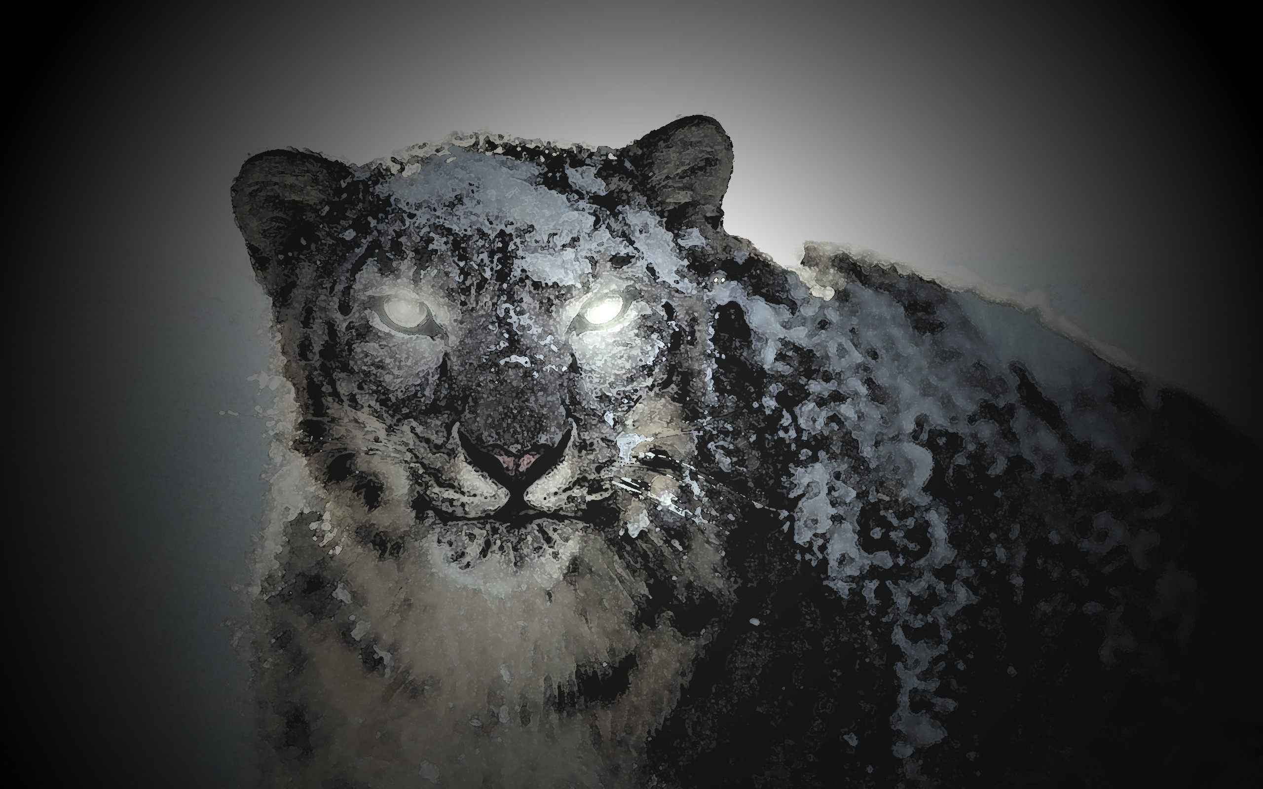 Black Snow Leopard by GUIDOPATA Black Snow Leopard by GUIDOPATA