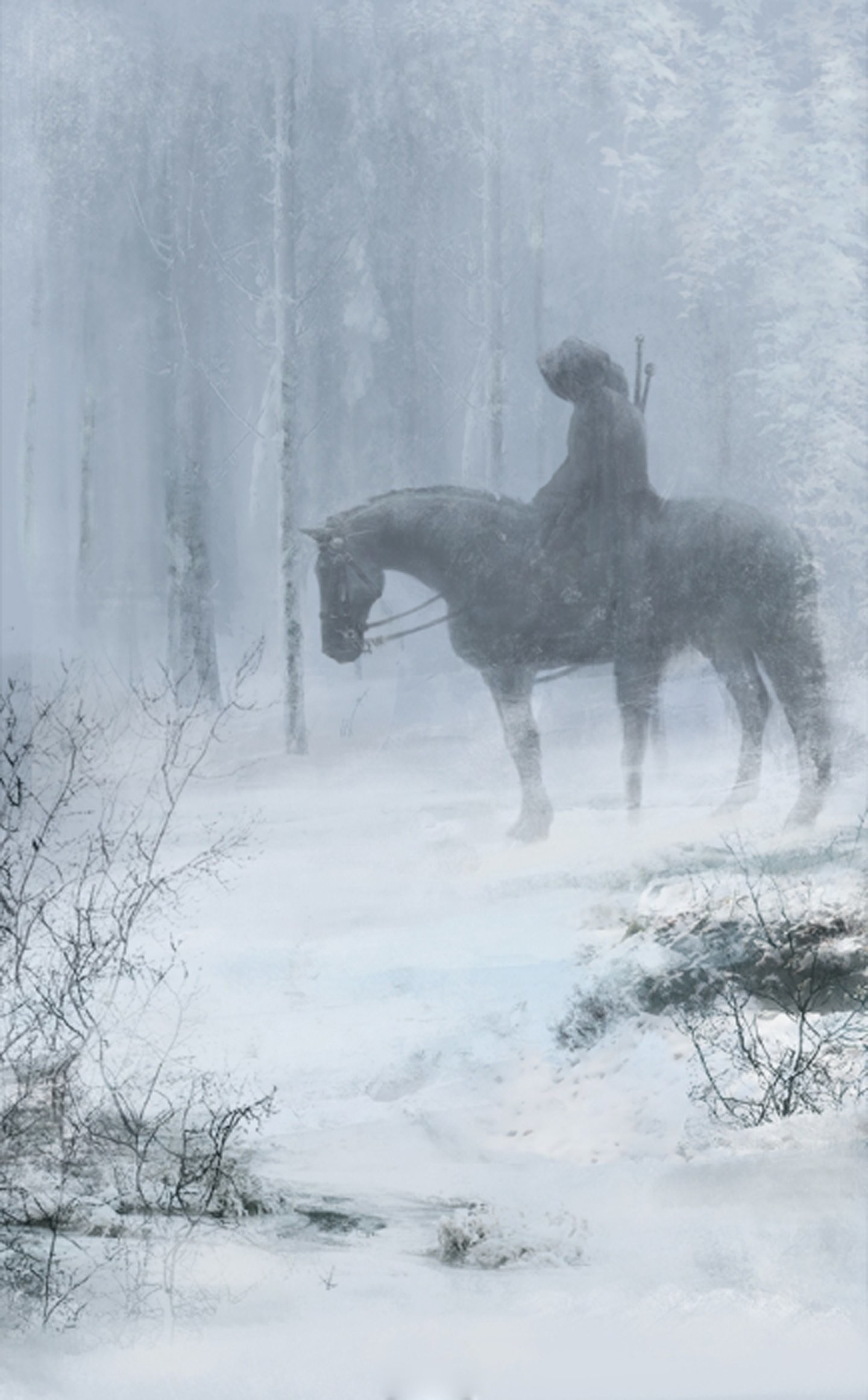 Winter snow tree forest fantasy horse animal male sword wallpaper |  | 571240 | WallpaperUP