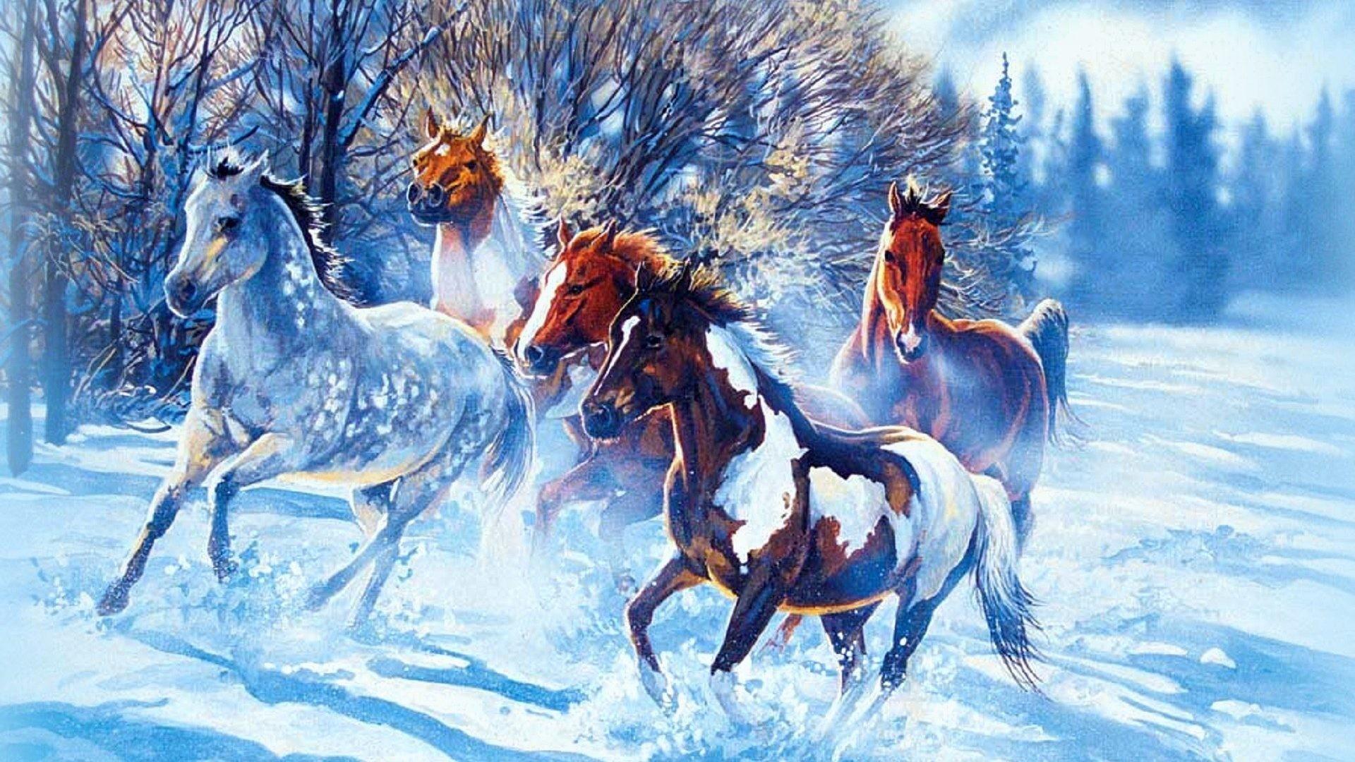 Horses Tag – Seasons Flies Horses Colors Holidays Animals Four Beautiful  Love Run Winter Family Paintings