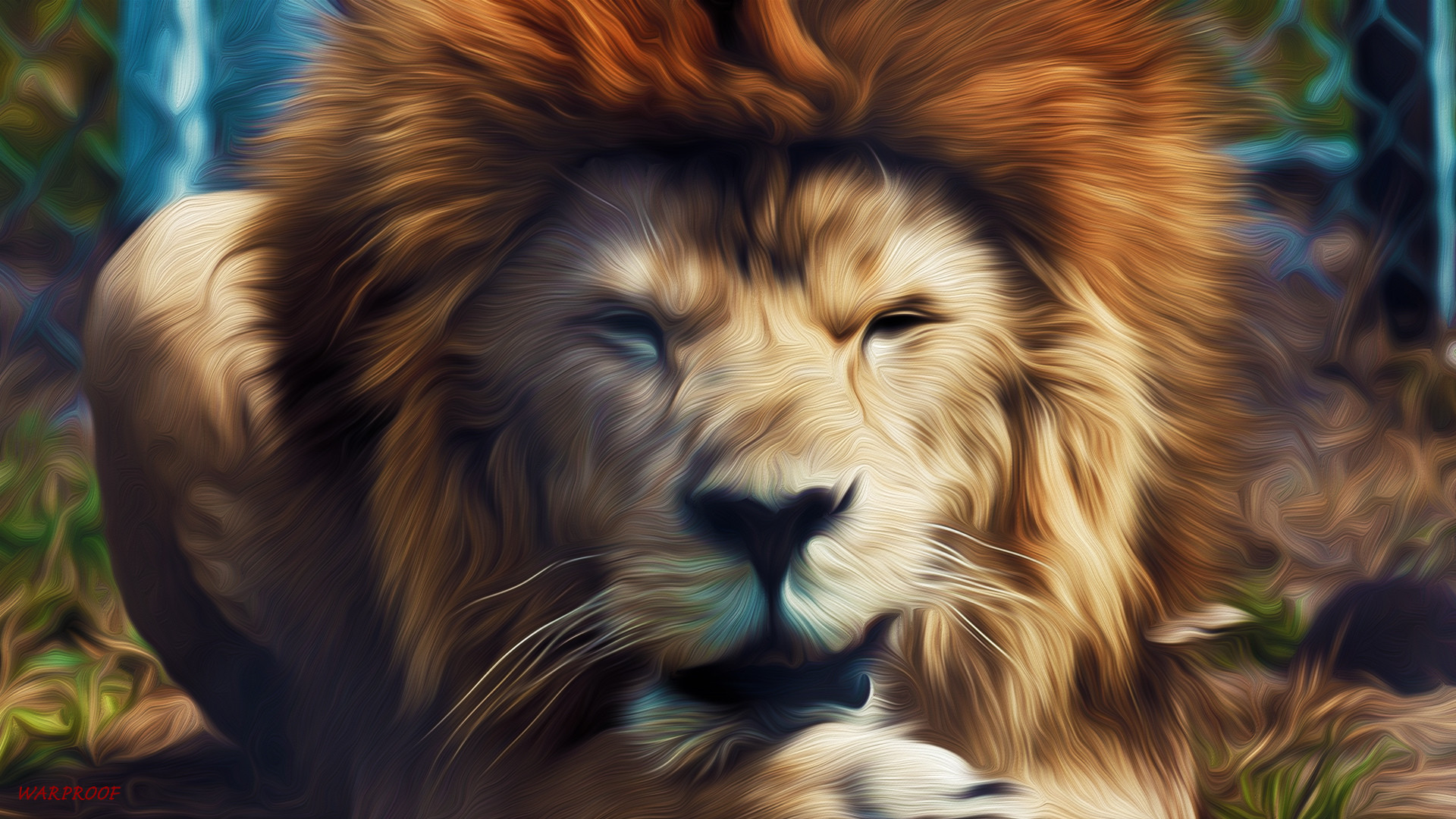 Wallpprs is the world's largest collection of Free HD Lion illustration  Wallpapers.