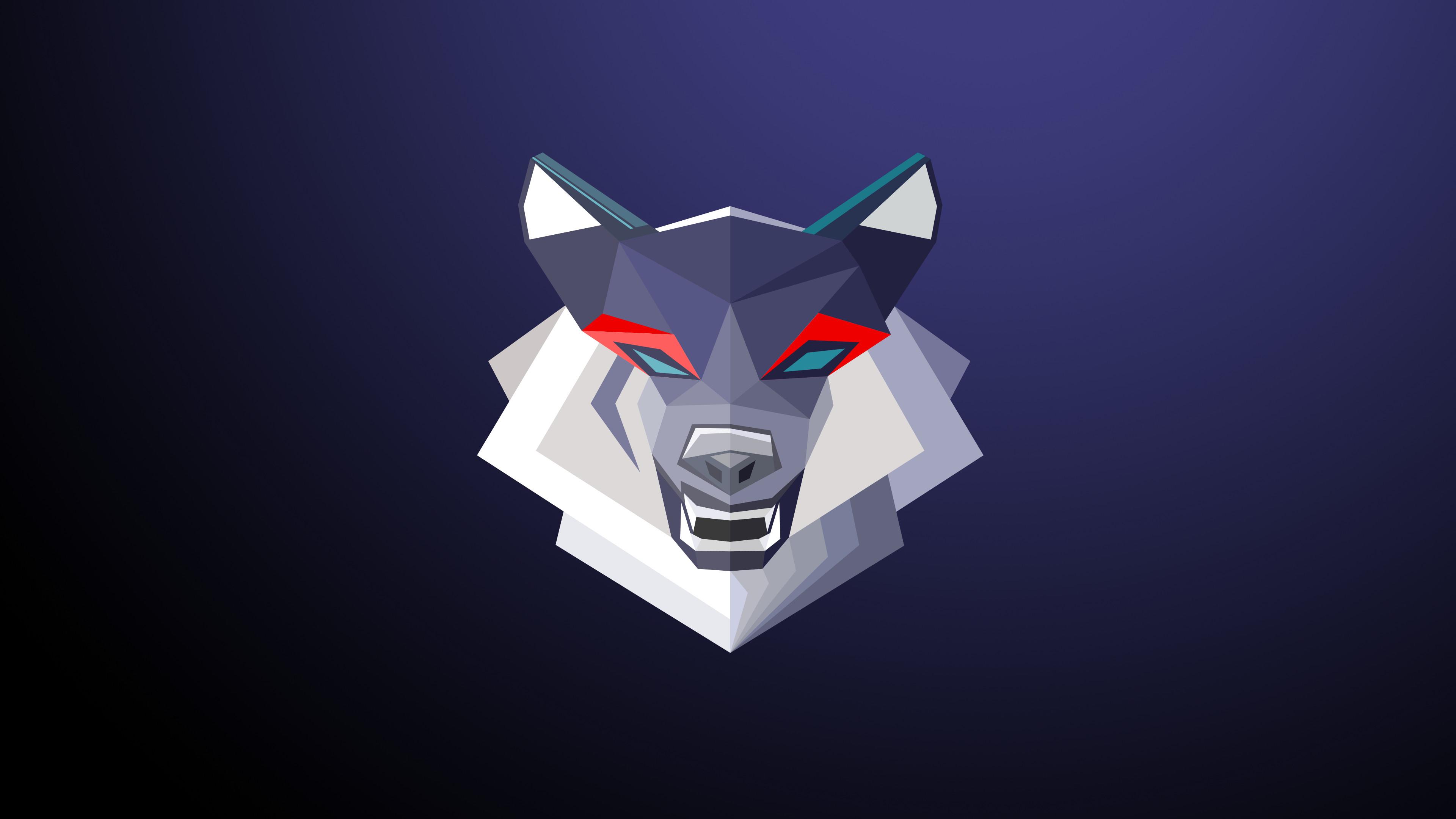 abstract, Wolf, Digital art, Animals Wallpaper