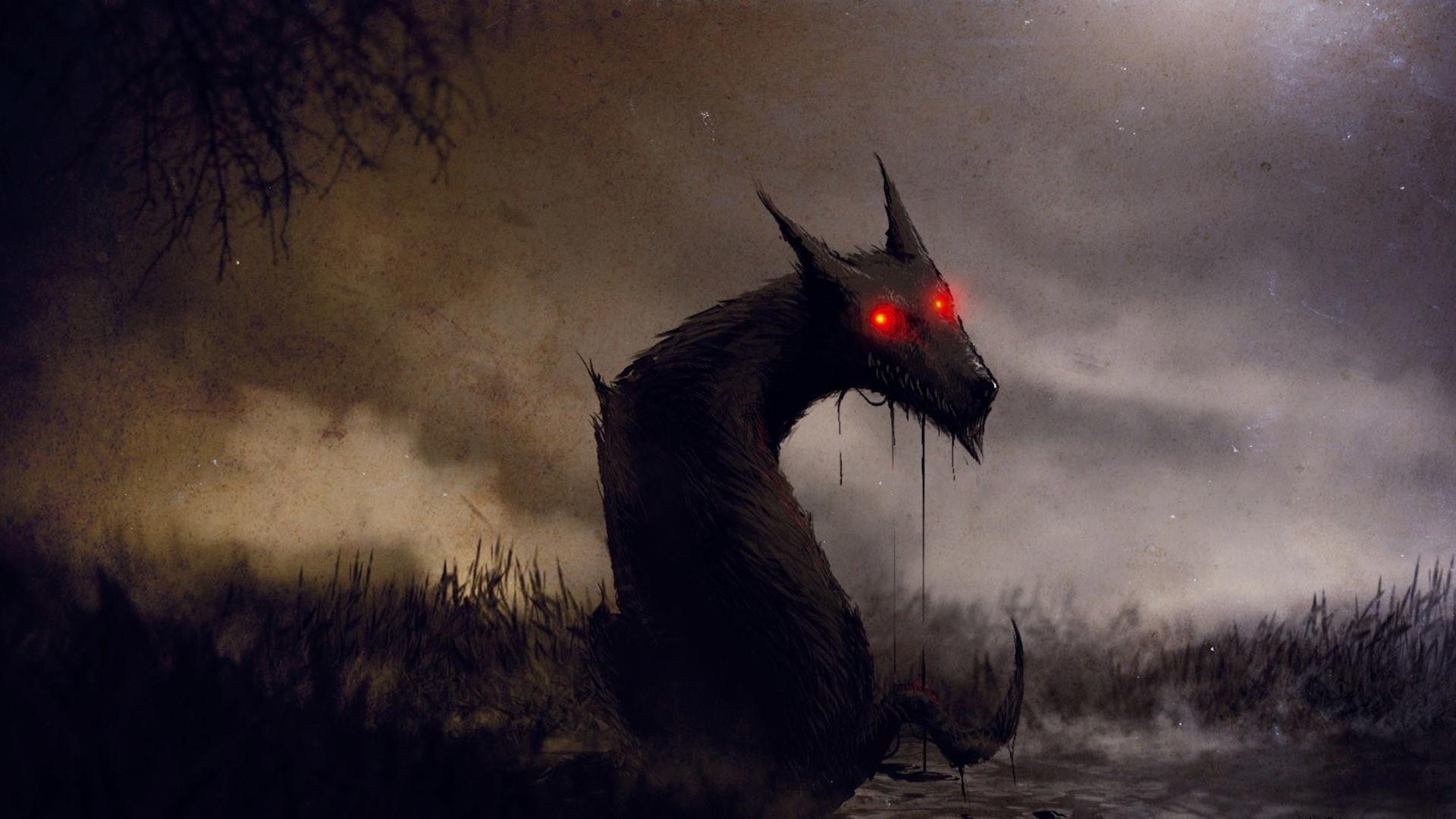 Demon wolf HD Wallpaper 1920×1080