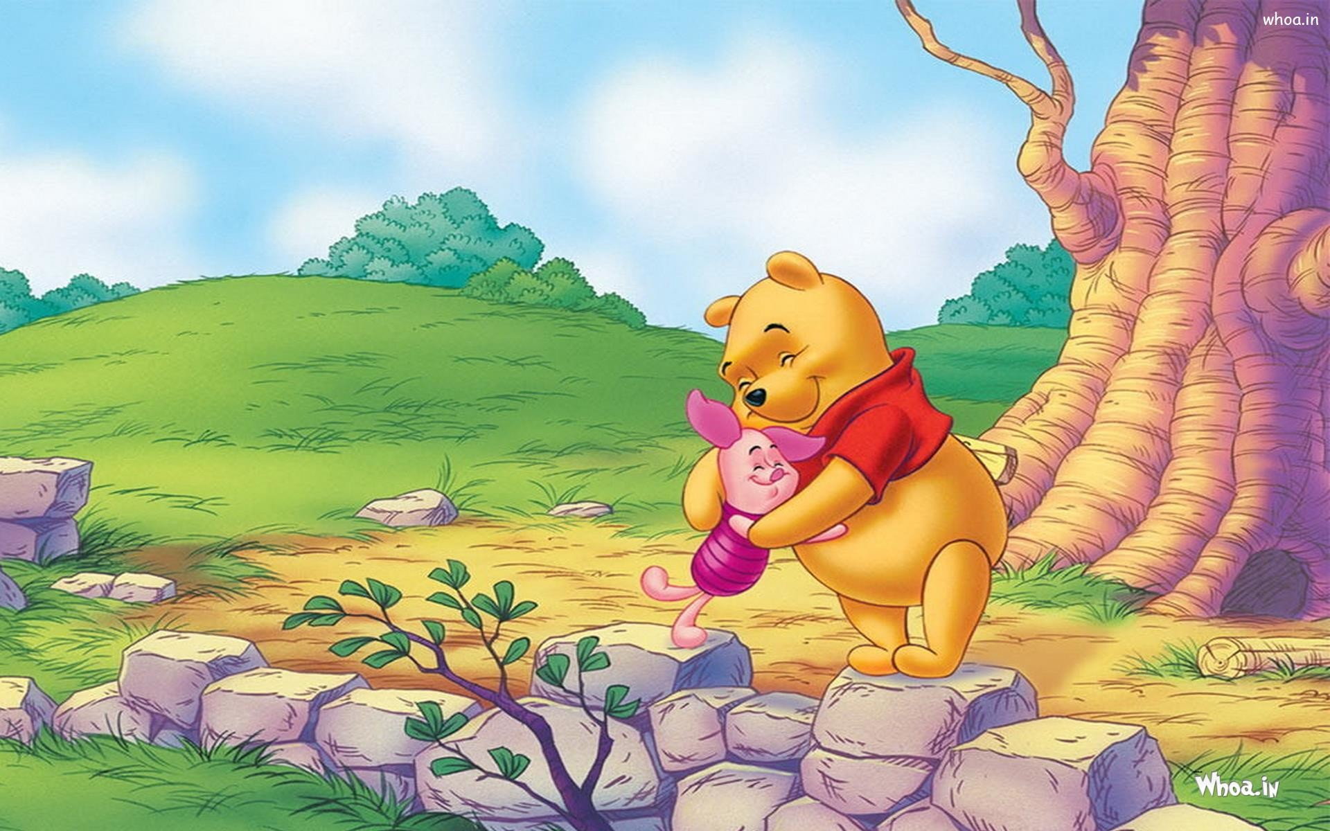… Winnie the Pooh Hug to Piglet Animated Wallpaper …
