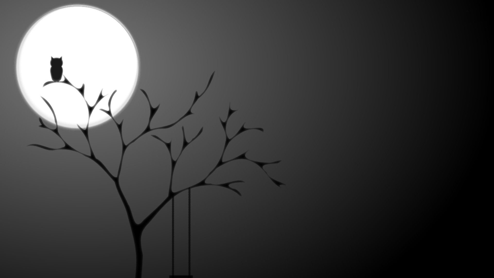 Dark owl wallpapers HD pictures images.