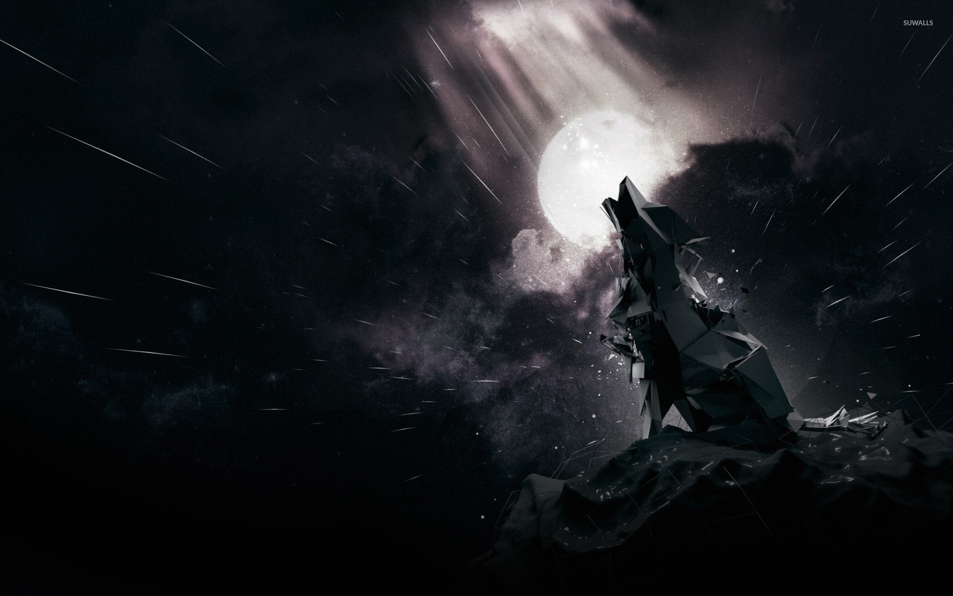 Black Wolf Howling Backgrounds As Wallpaper HD