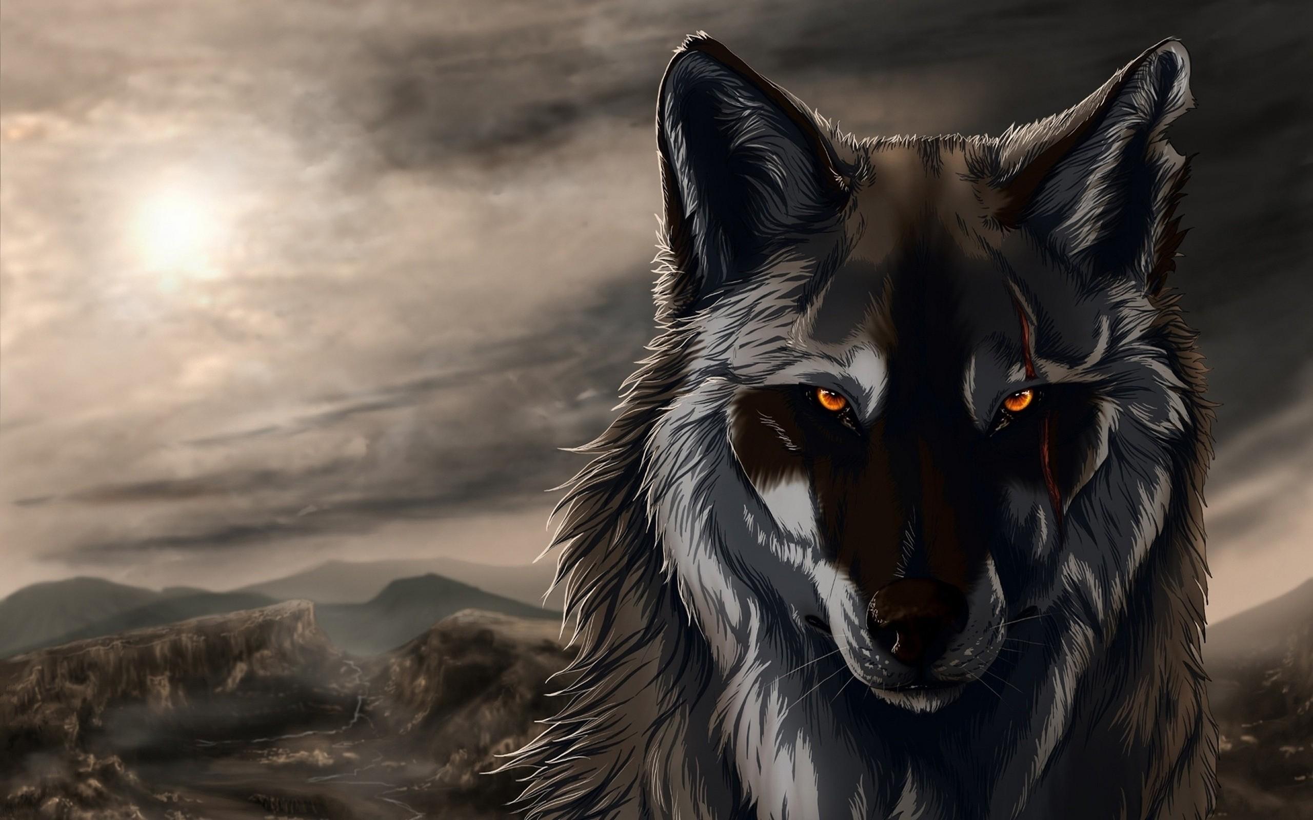 Dark wolf by ethan Milligan