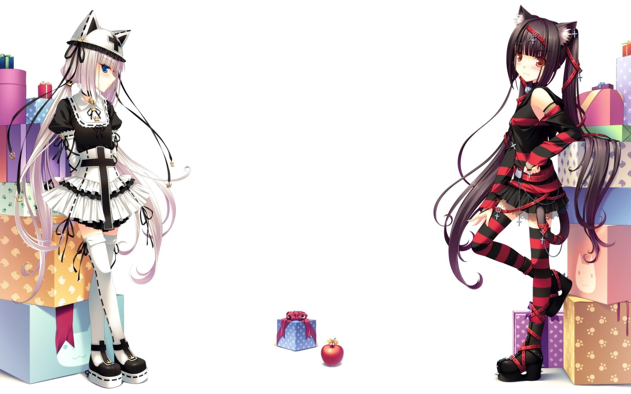 Anime anime girls anime cat girl Neko Para Vanilla (Neko Para)  Chocolat (