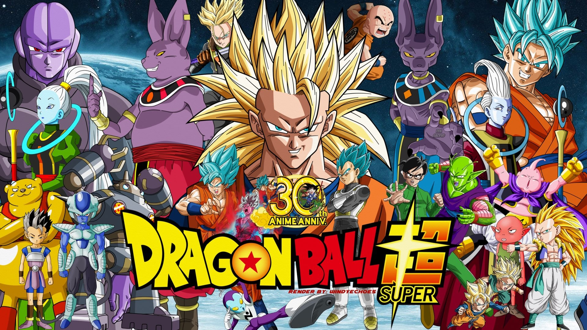… Dragon Ball Super 30th Anniversary Wallpaper # 1 by WindyEchoes