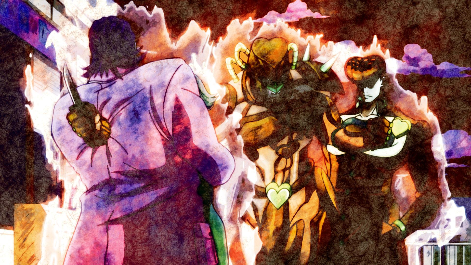 Anime – Jojo's Bizarre Adventure Josuke Higashikata Crazy Diamond (Jojo's  Bizarre Adventure) Bakgrund